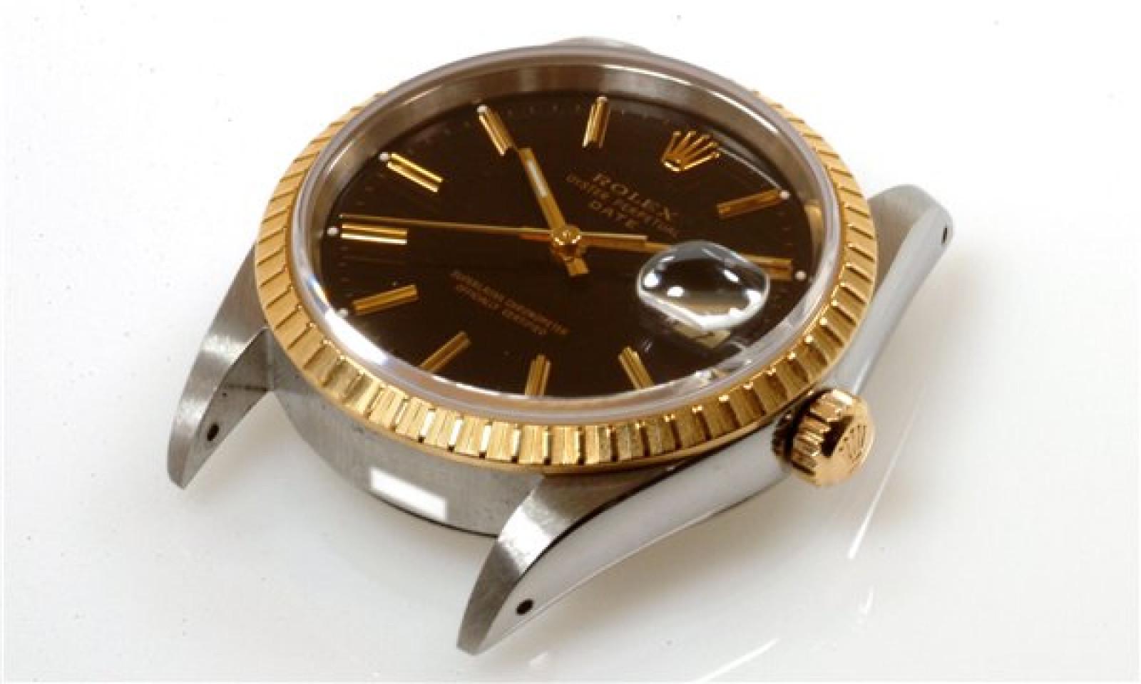 Rolex Date 15223 Gold & Steel Black 1991