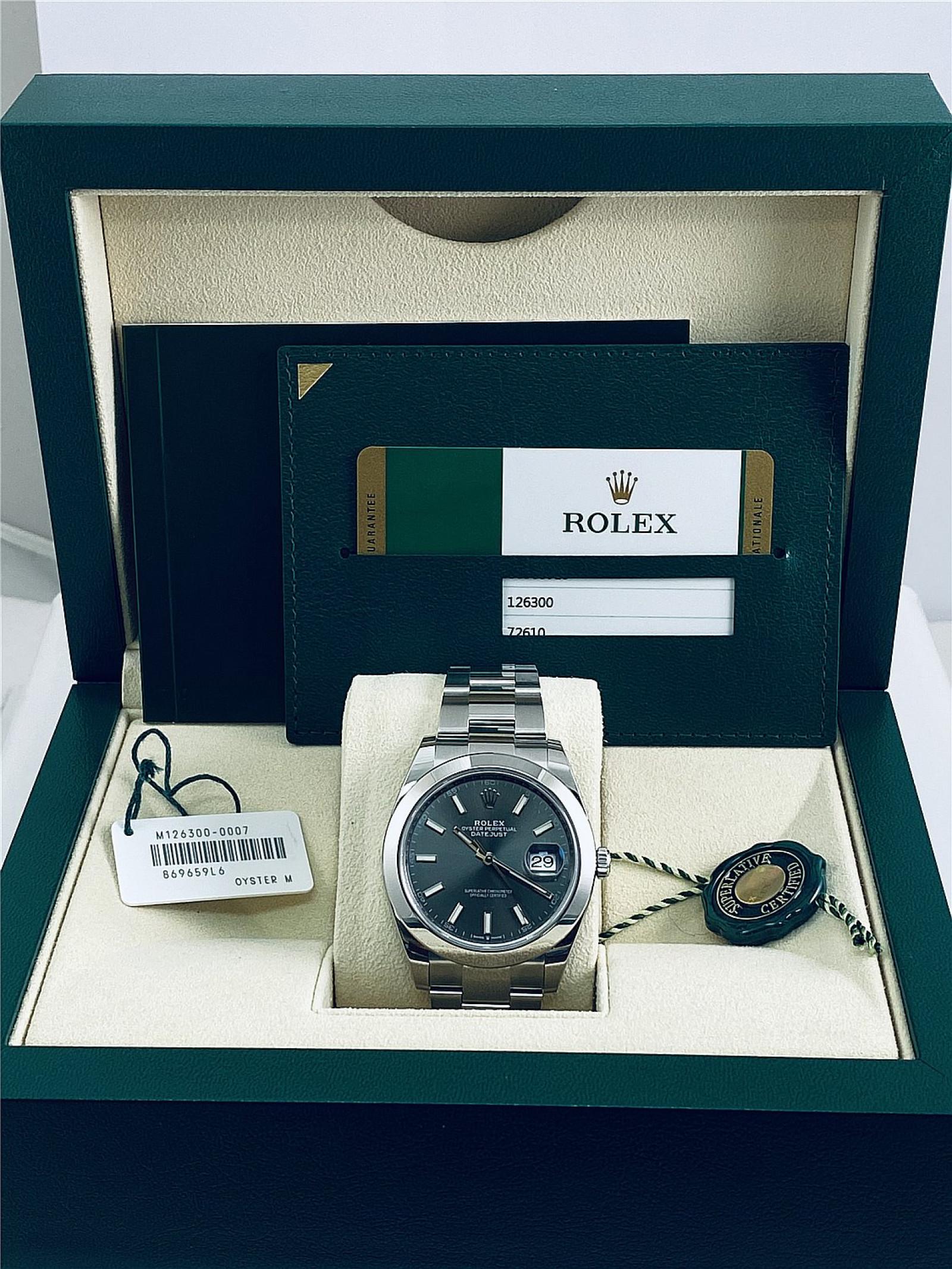 2019 Dark Rhodium Rolex Datejust Ref. 126300