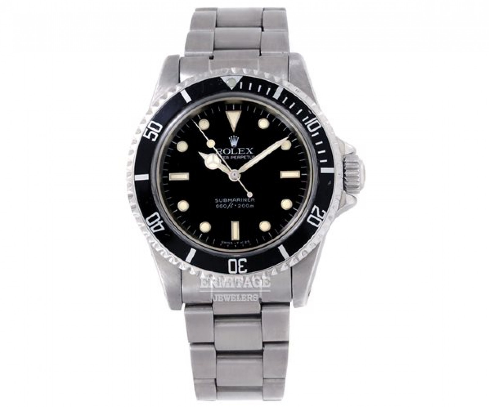 Vintage Rolex Submariner 5513 Steel with Black Dial
