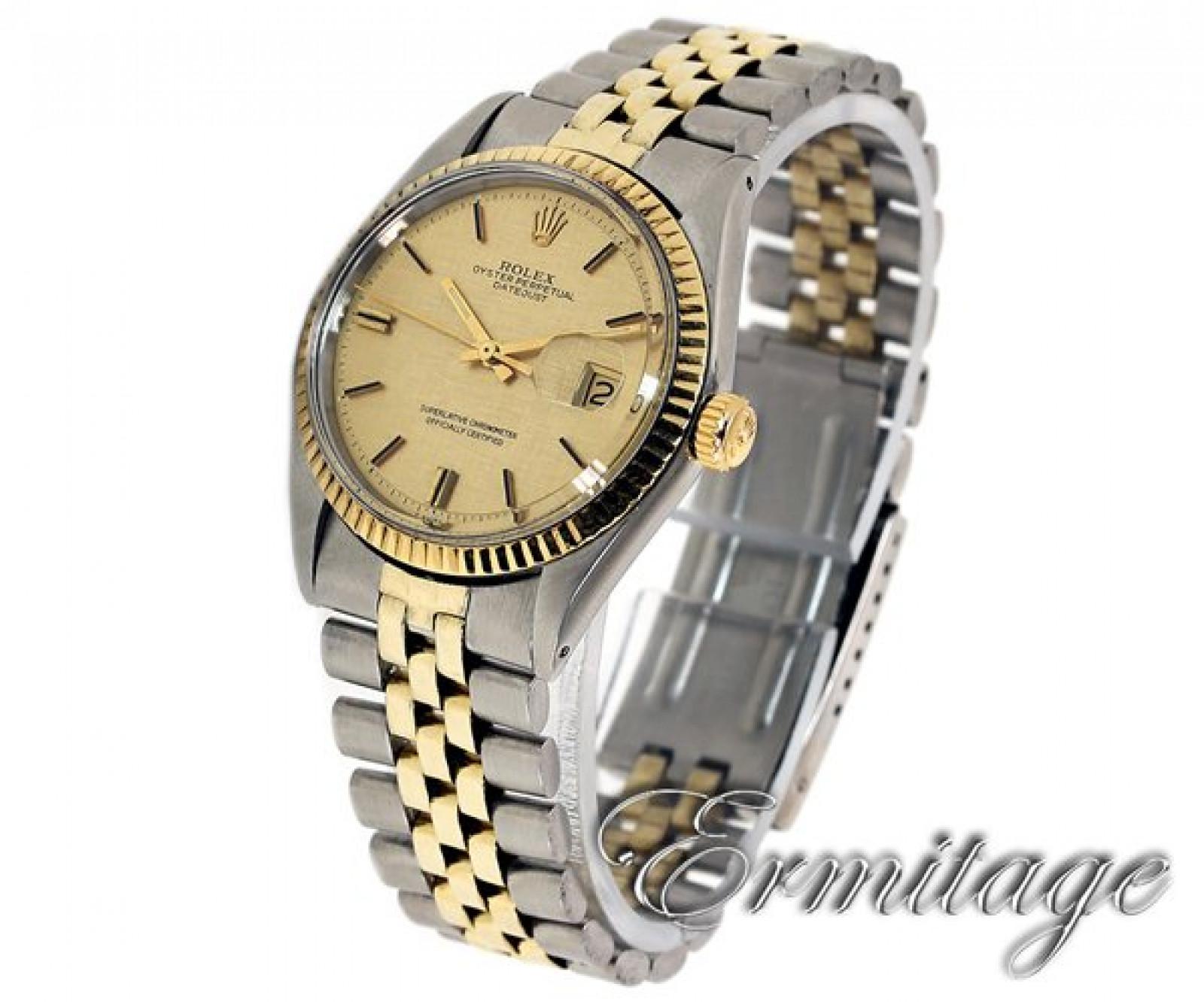 Vintage Rare Rolex Datejust 1601 Gold & Steel Year Circa 1969