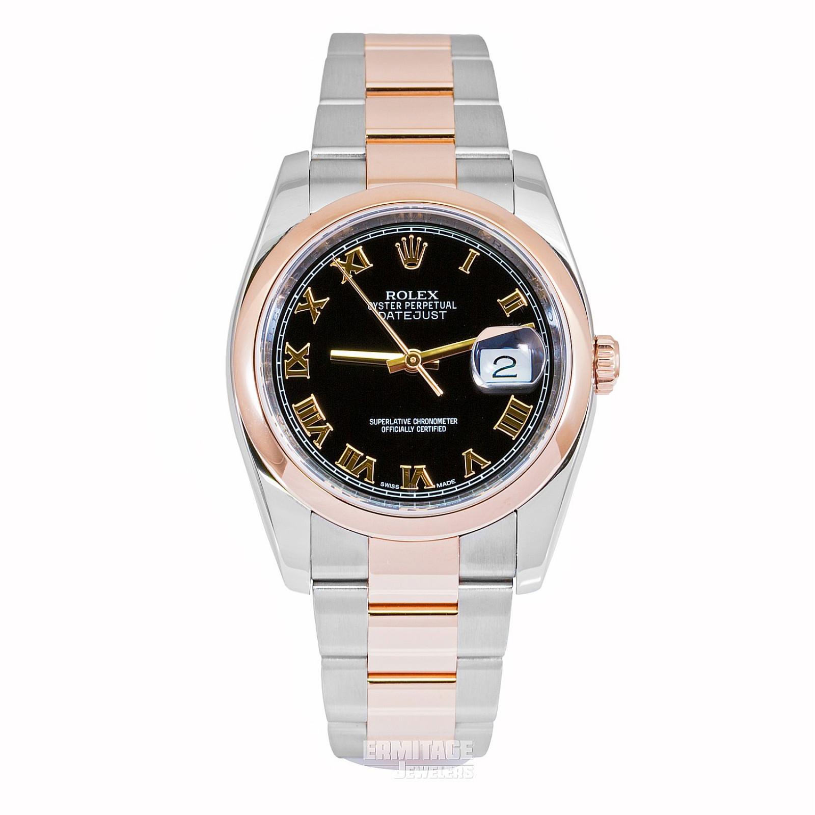 2018 Black Rolex Datejust Ref. 116201