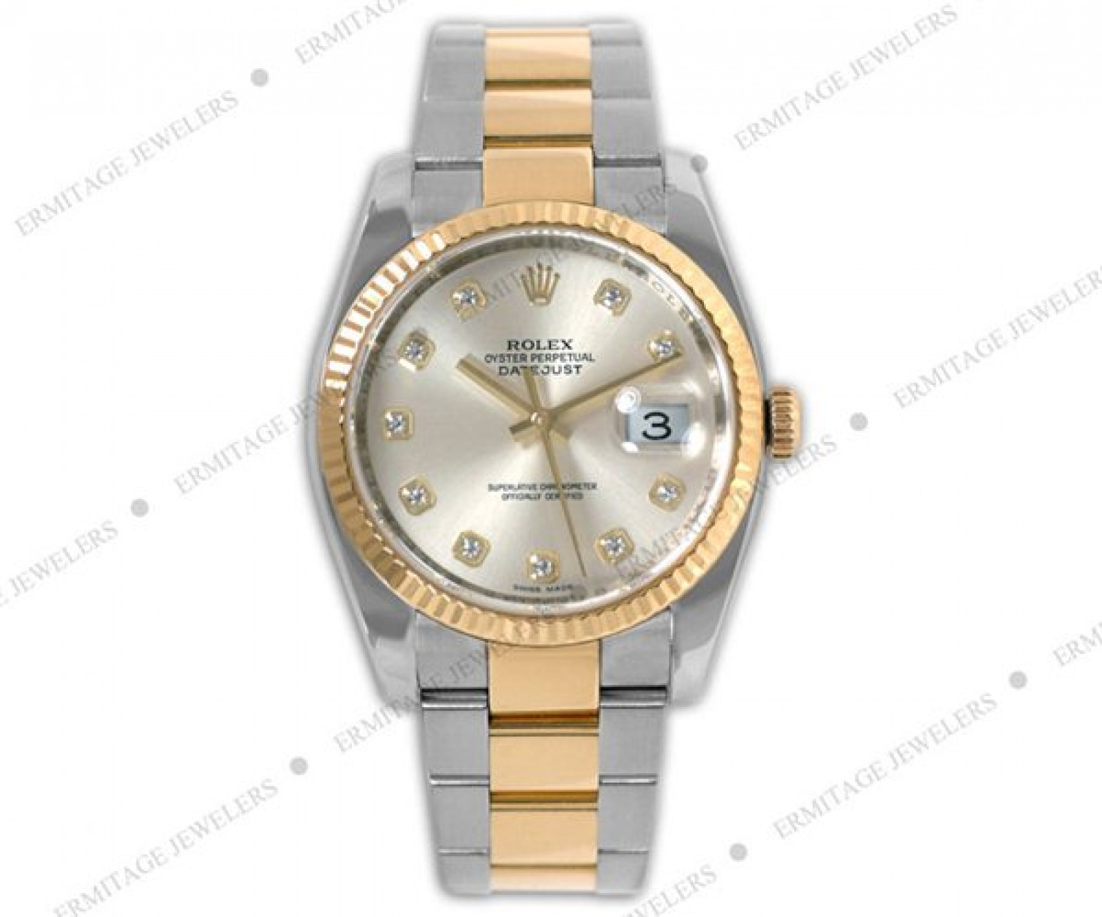 Pre-Owned Rolex Datejust 116233 with Diamonds Two Tone