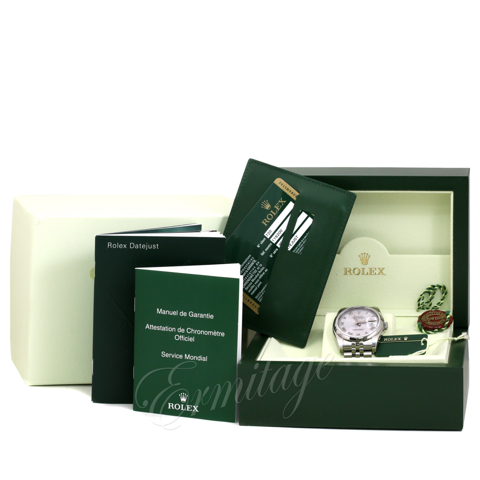 Pre-Owned Rolex Datejust 116200 with Steel Dial