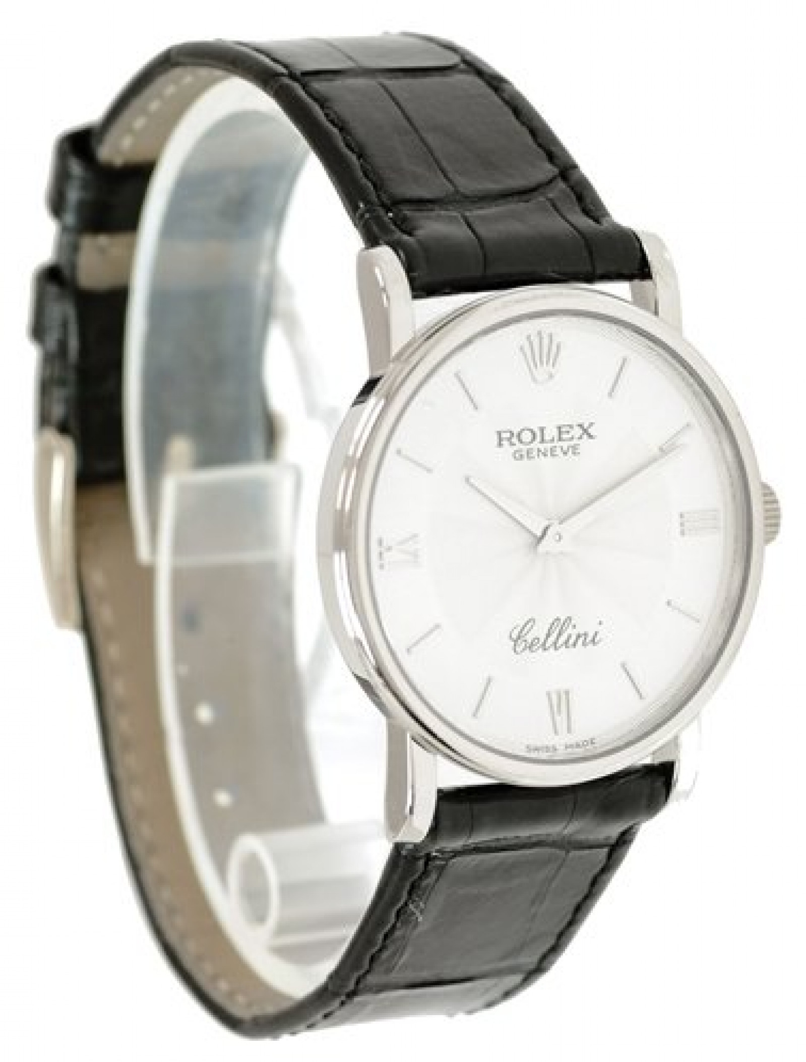 Rolex Cellini 5115/9 White Gold with Silver Dial & Roman Markers