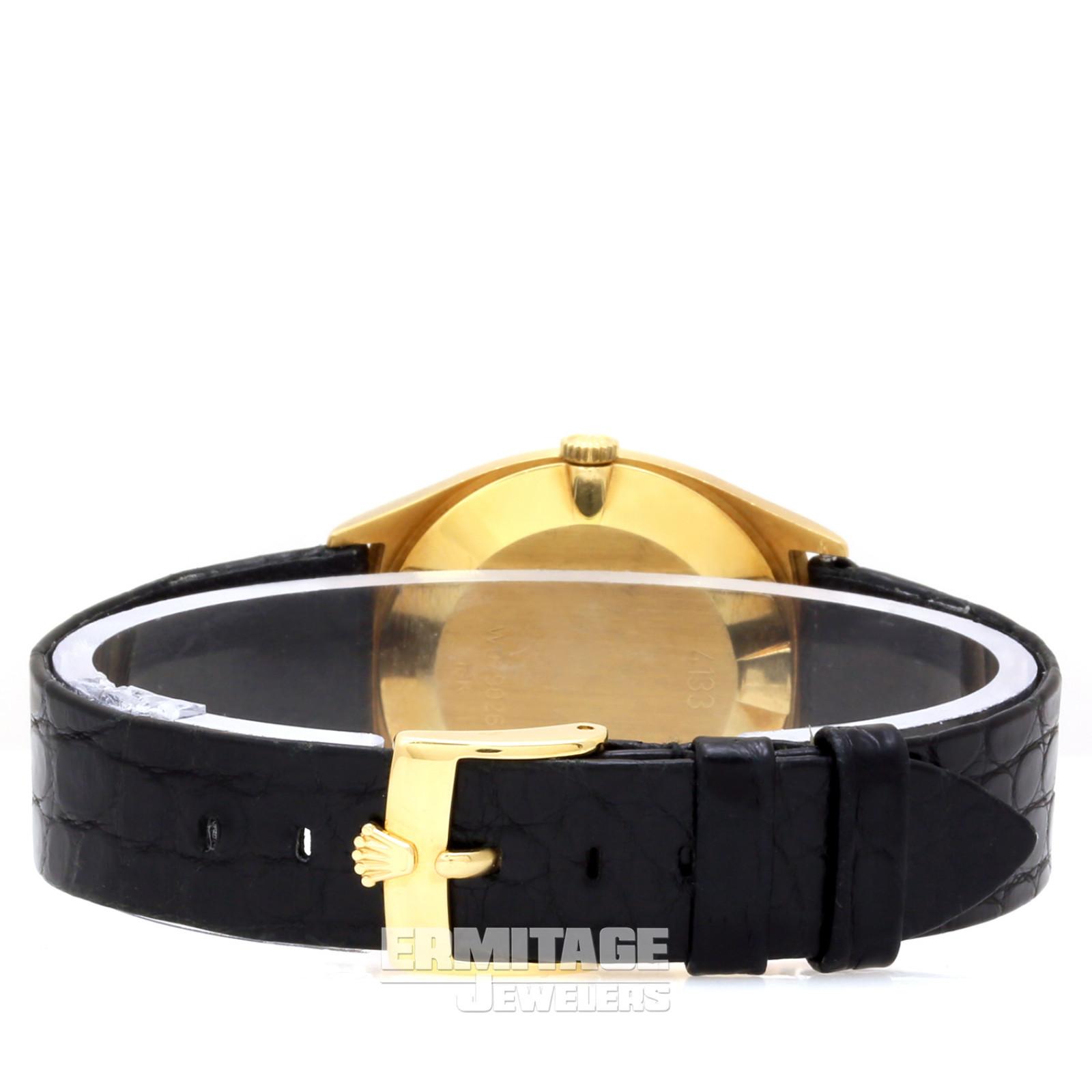 Gold on Strap Rolex Cellini 4133 31 mm