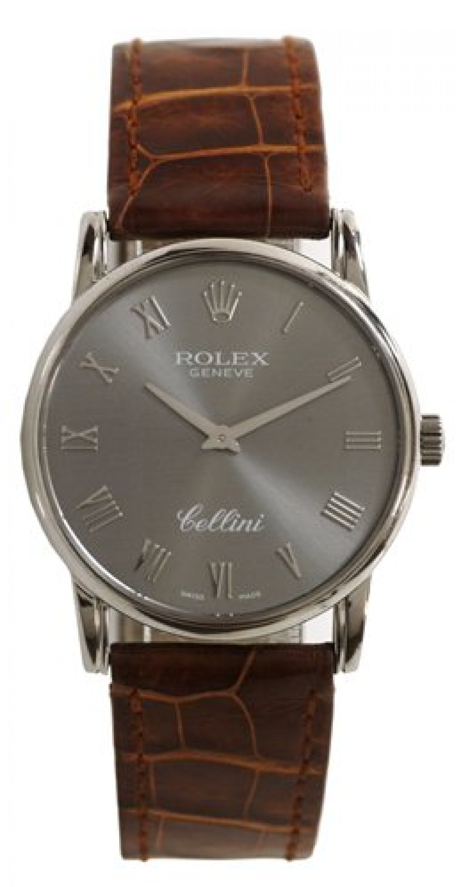 Rolex Cellini 5116/9 White Gold with Slate Dial & Roman Markers