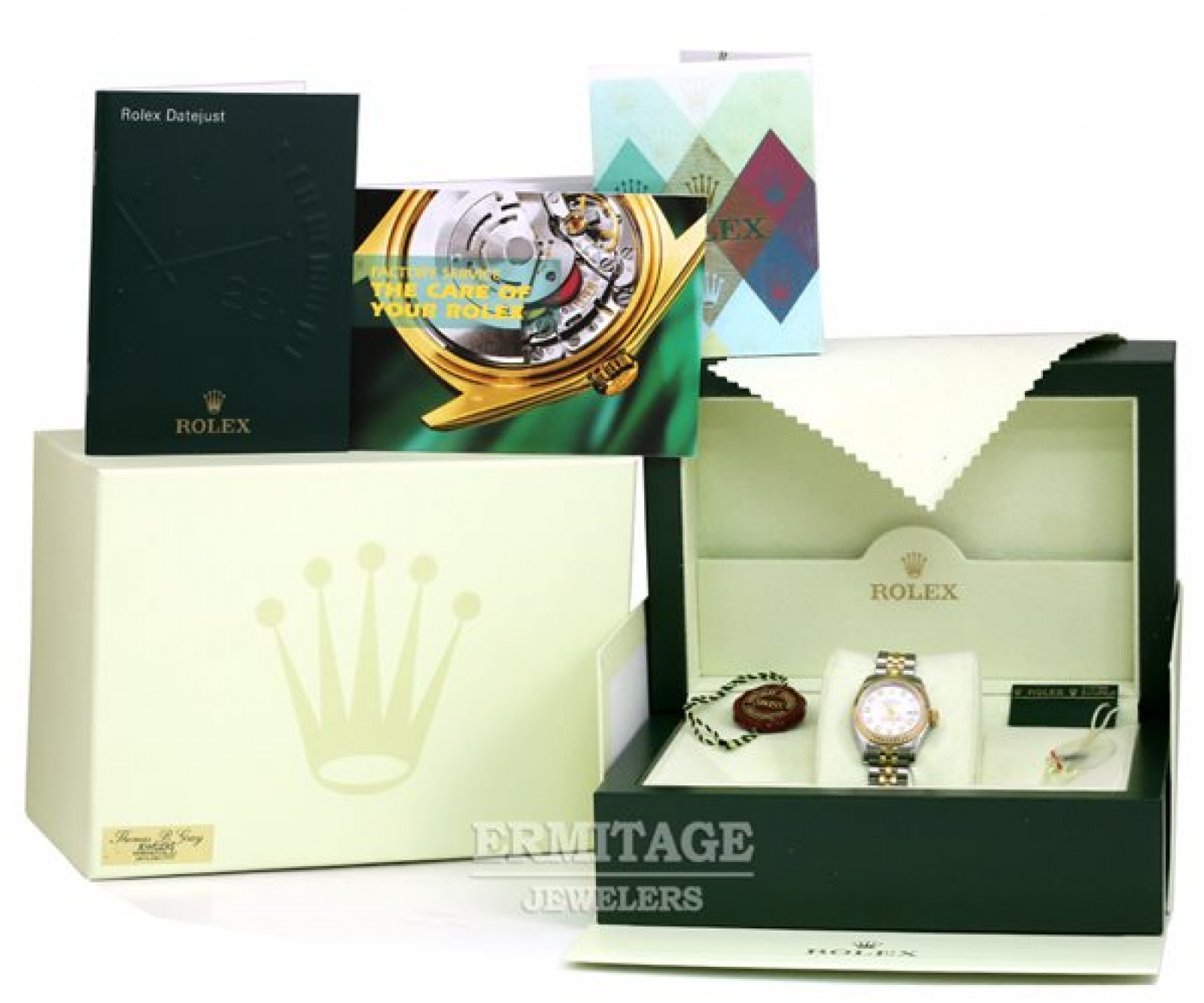 Diamond Dial Rolex Datejust 179173 Gold & Steel