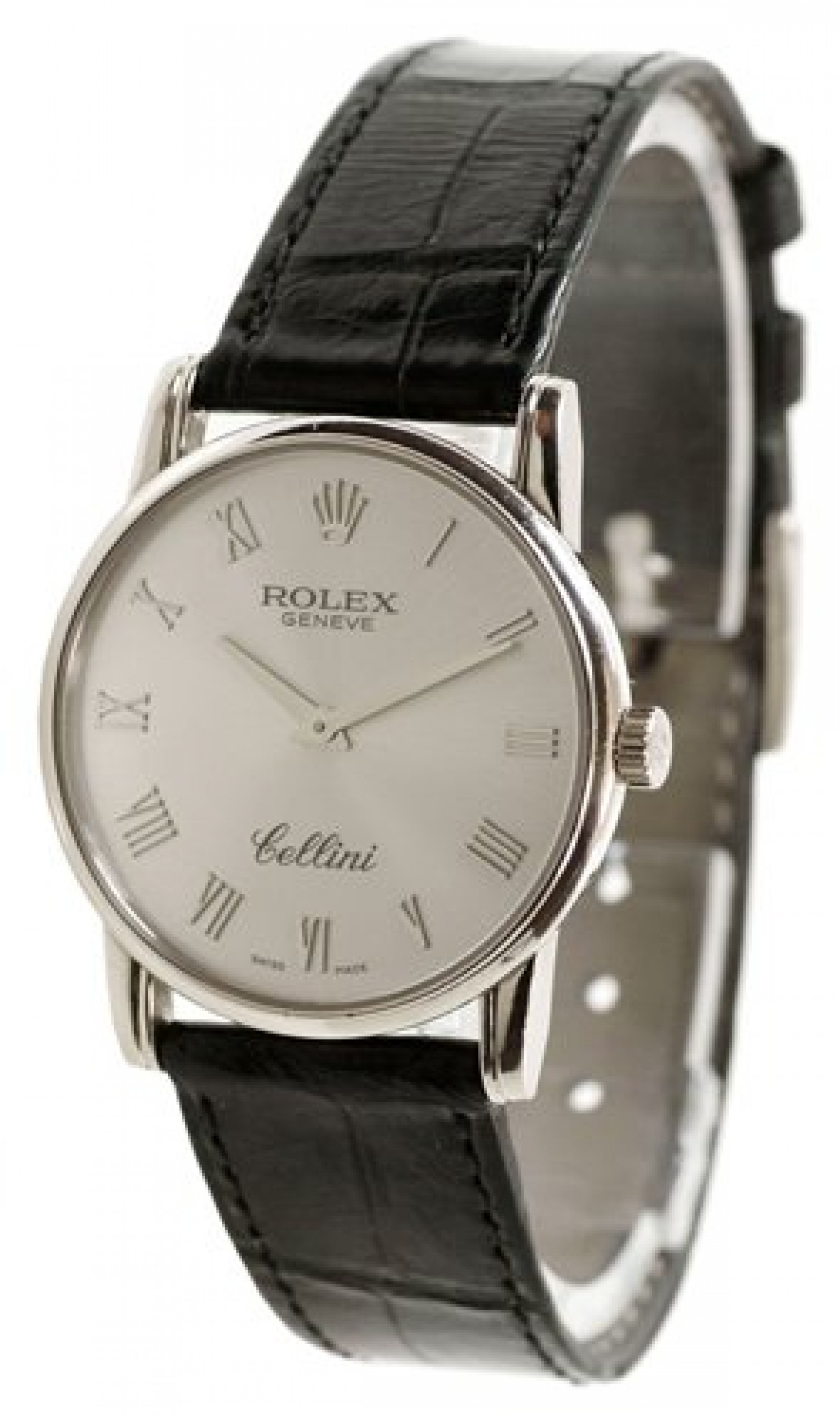 Rolex Cellini 5116/9 White Gold with Silver Dial & Roman Markers