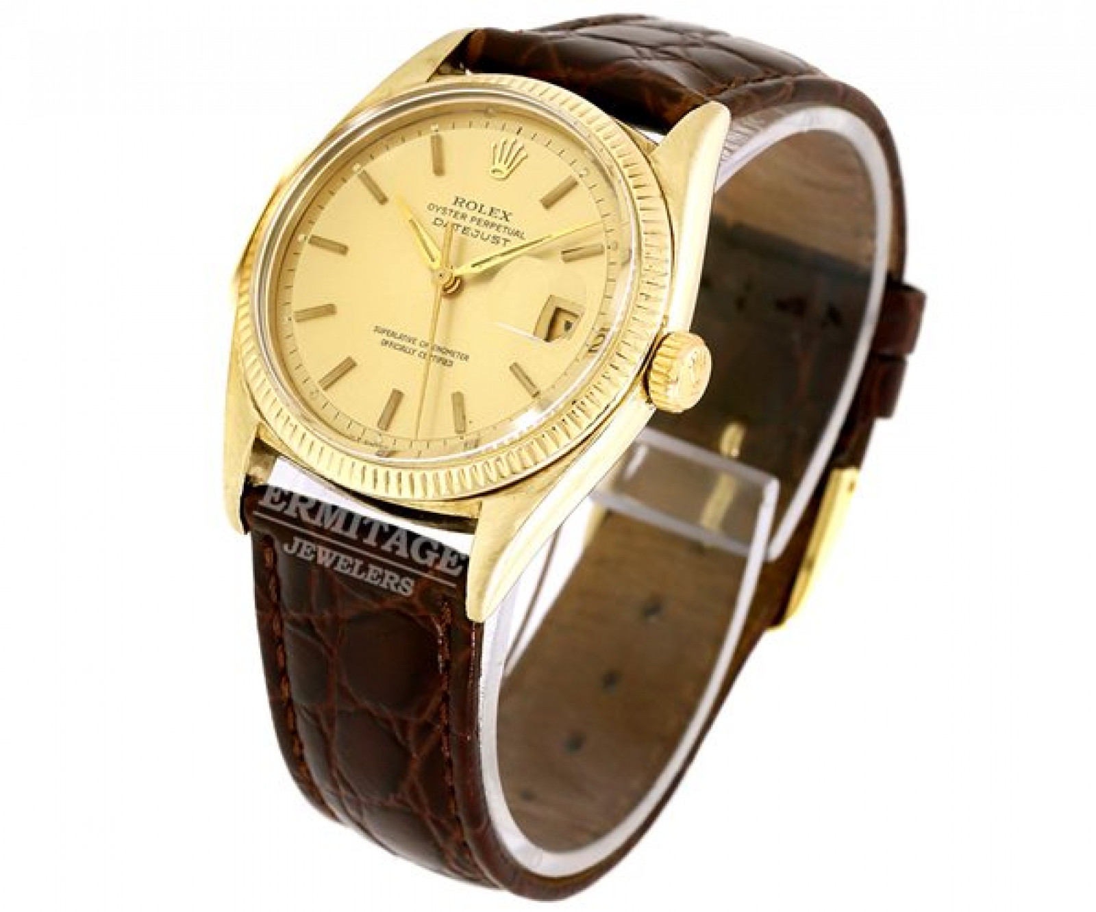 Vintage Rolex Oyster Perpetual Datejust 6605 Gold