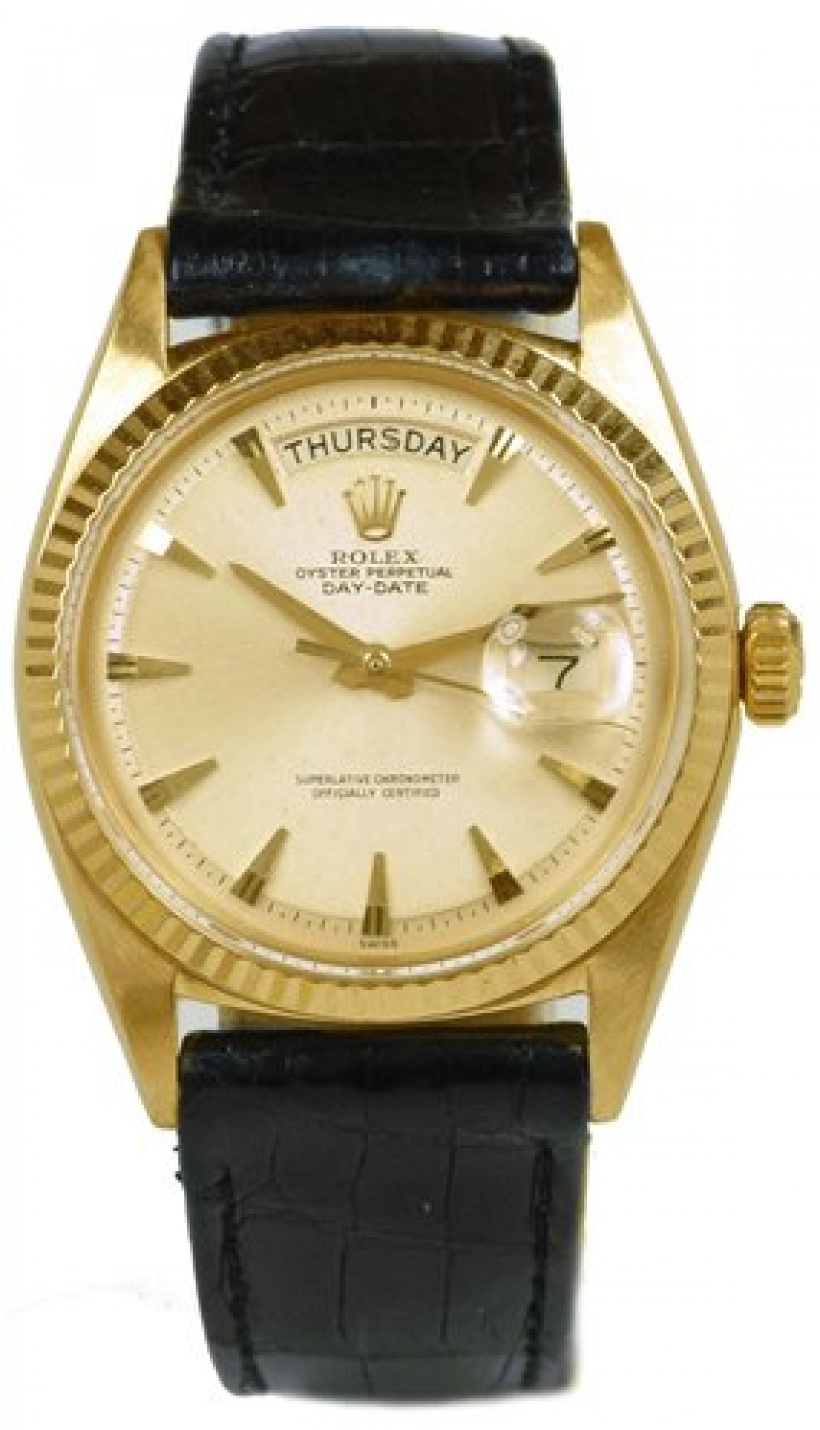 Vintage Rolex Day-Date 1803 Gold Silver with Silver Dial