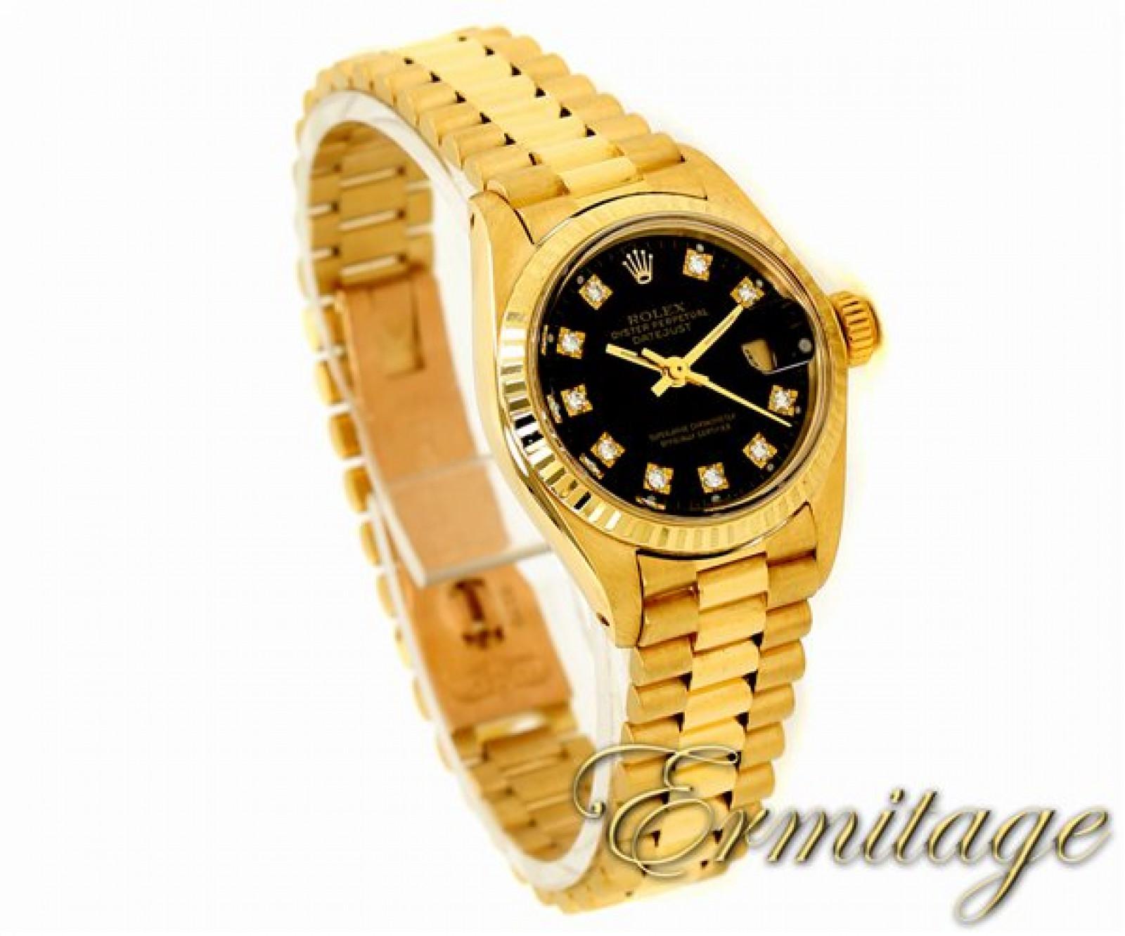 Black Diamond Dial Rolex Datejust 6917