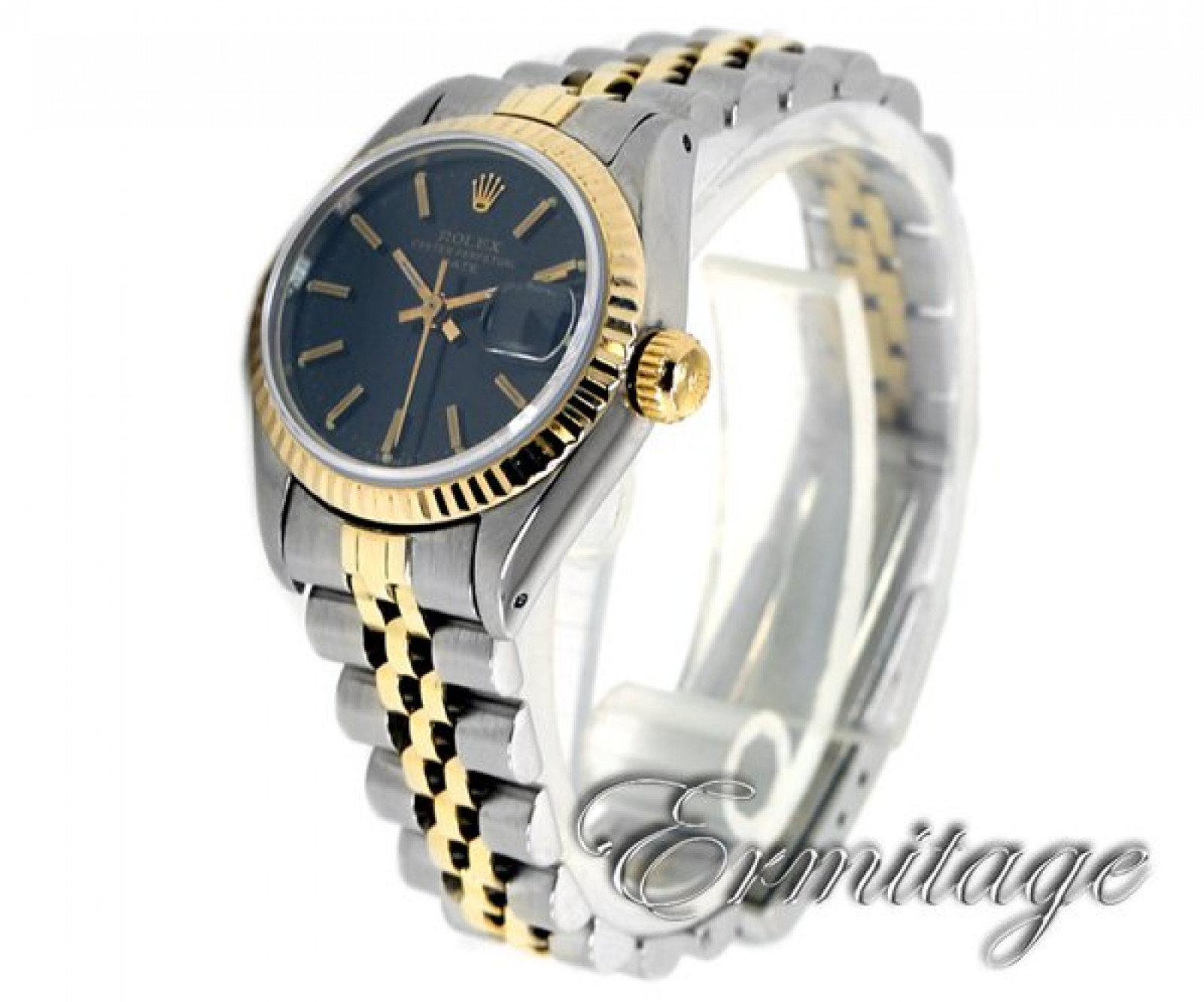 Vintage Rolex Date 6917 Gold & Steel with Black Dial