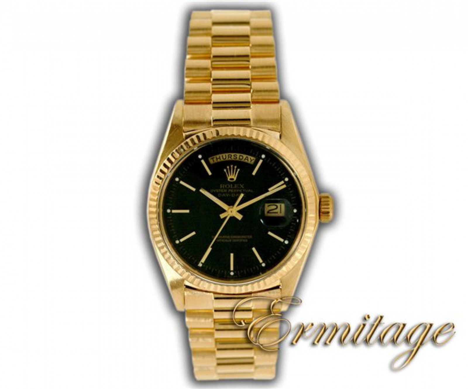 Vintage Rolex Day-Date 1803 Gold Black with Black Dial