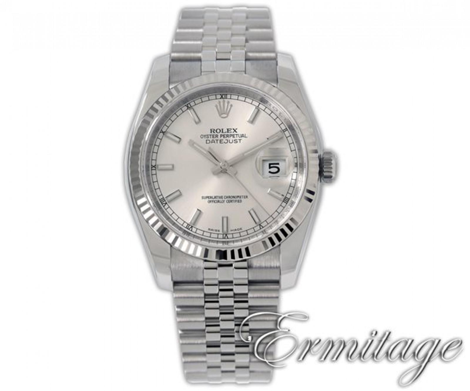 2014 Silver Rolex Datejust Ref. 116234