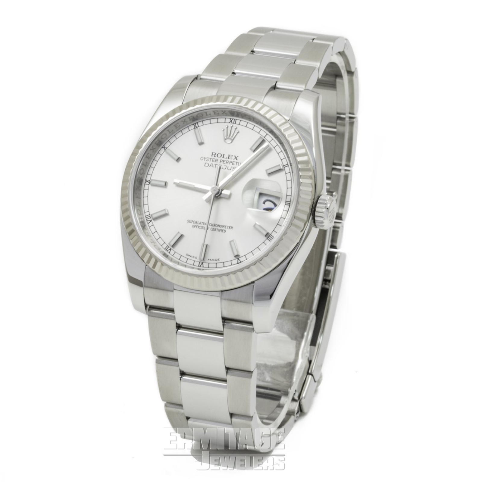 White Gold & Steel on Oyster Rolex Datejust 116234 36 mm
