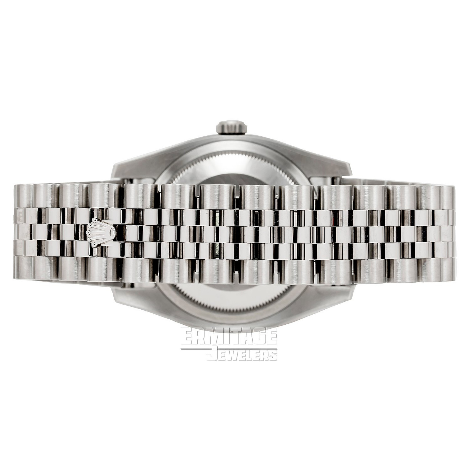 36 mm Rolex Datejust 116234 White Gold & Steel on Jubilee with Black Dial