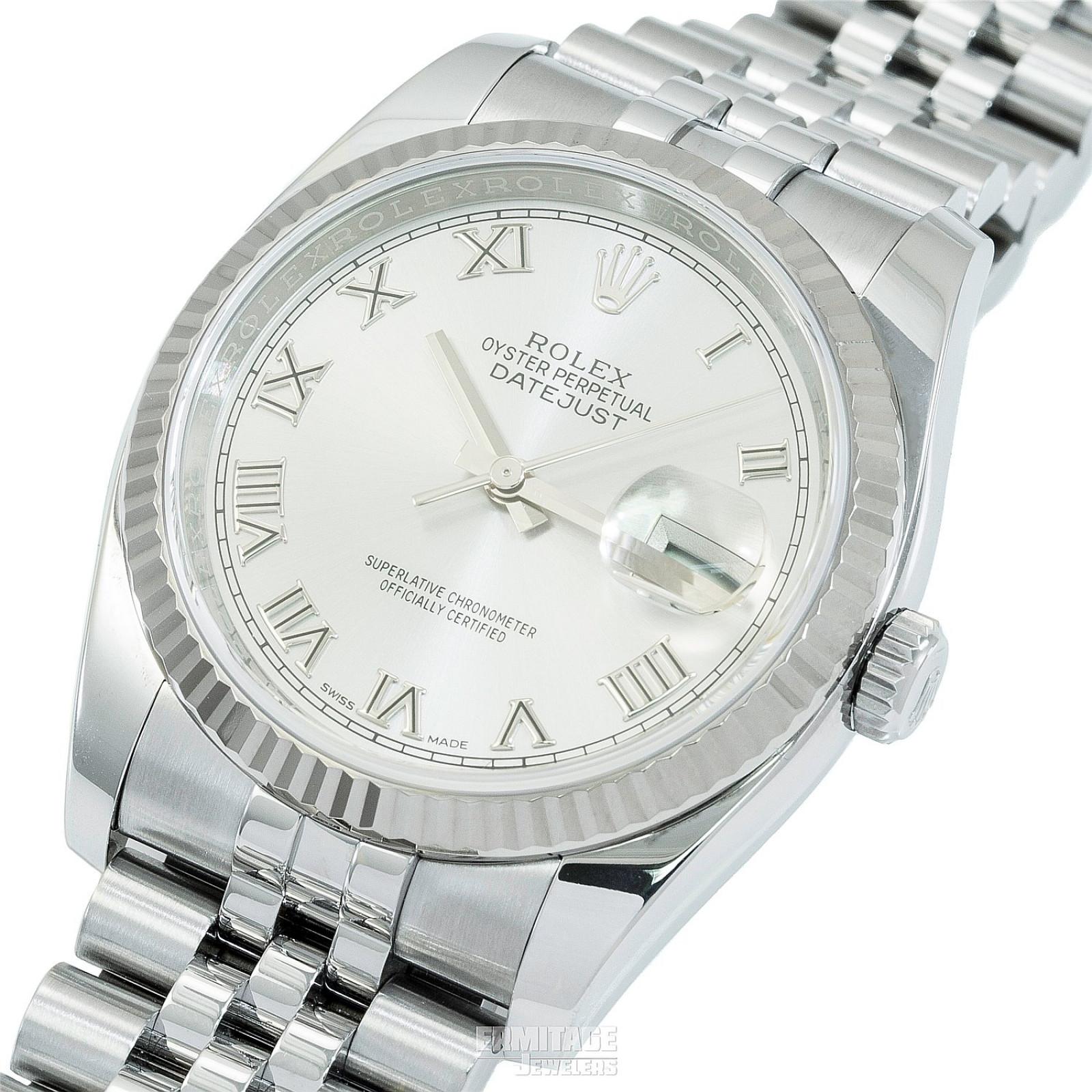 2018 Silver Rolex Datejust Ref. 116234