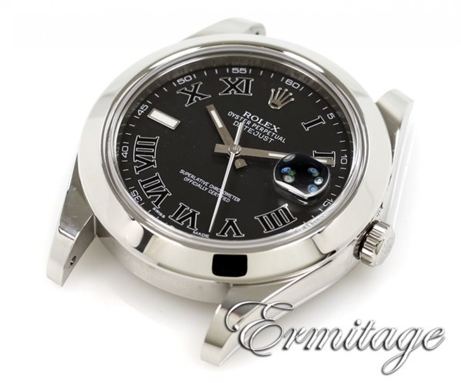 Rolex Datejust II 116300 Steel with Black Dial & Roman Markers