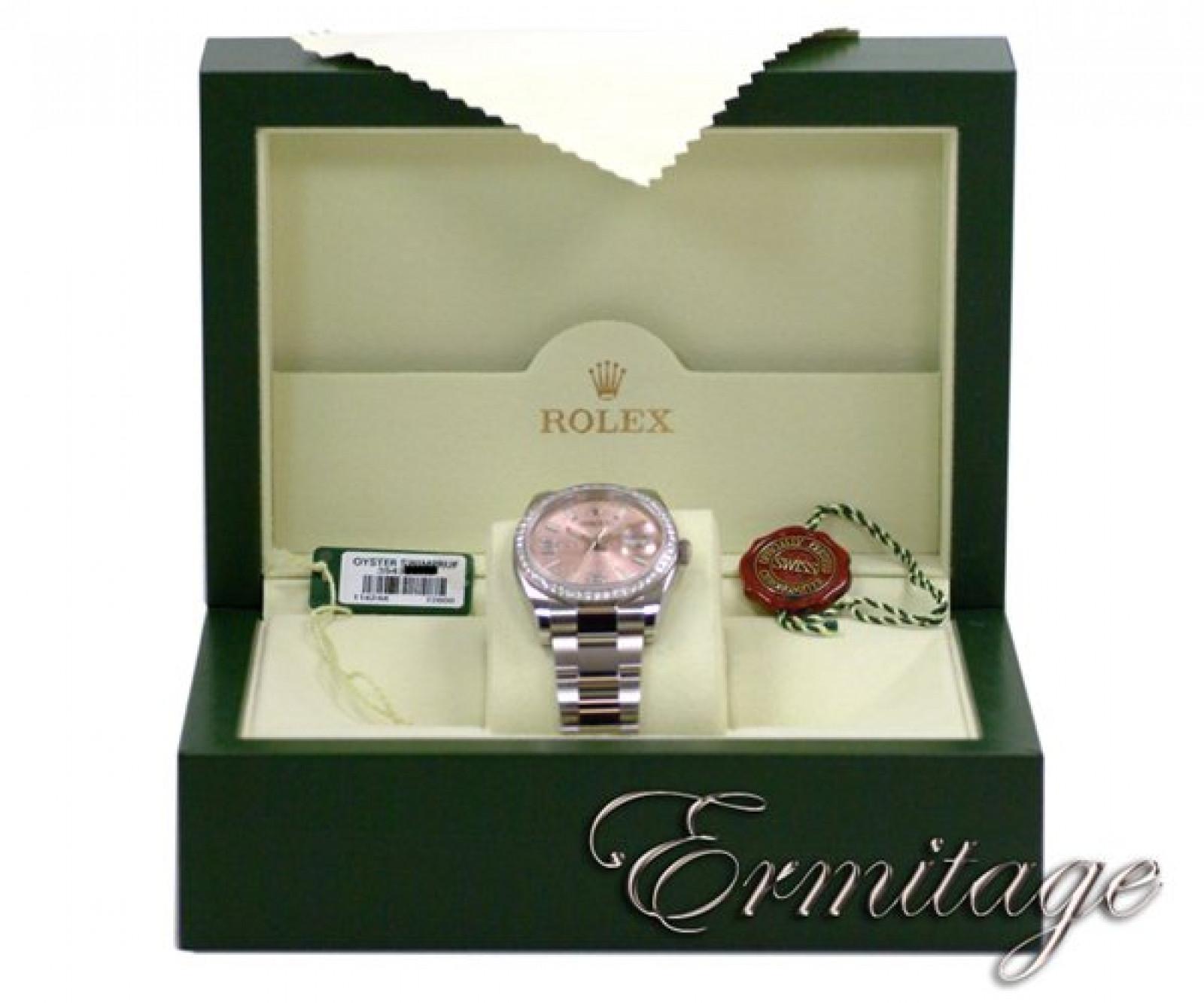 Rose Diamond Bezel & Dial Rolex Datejust 116244