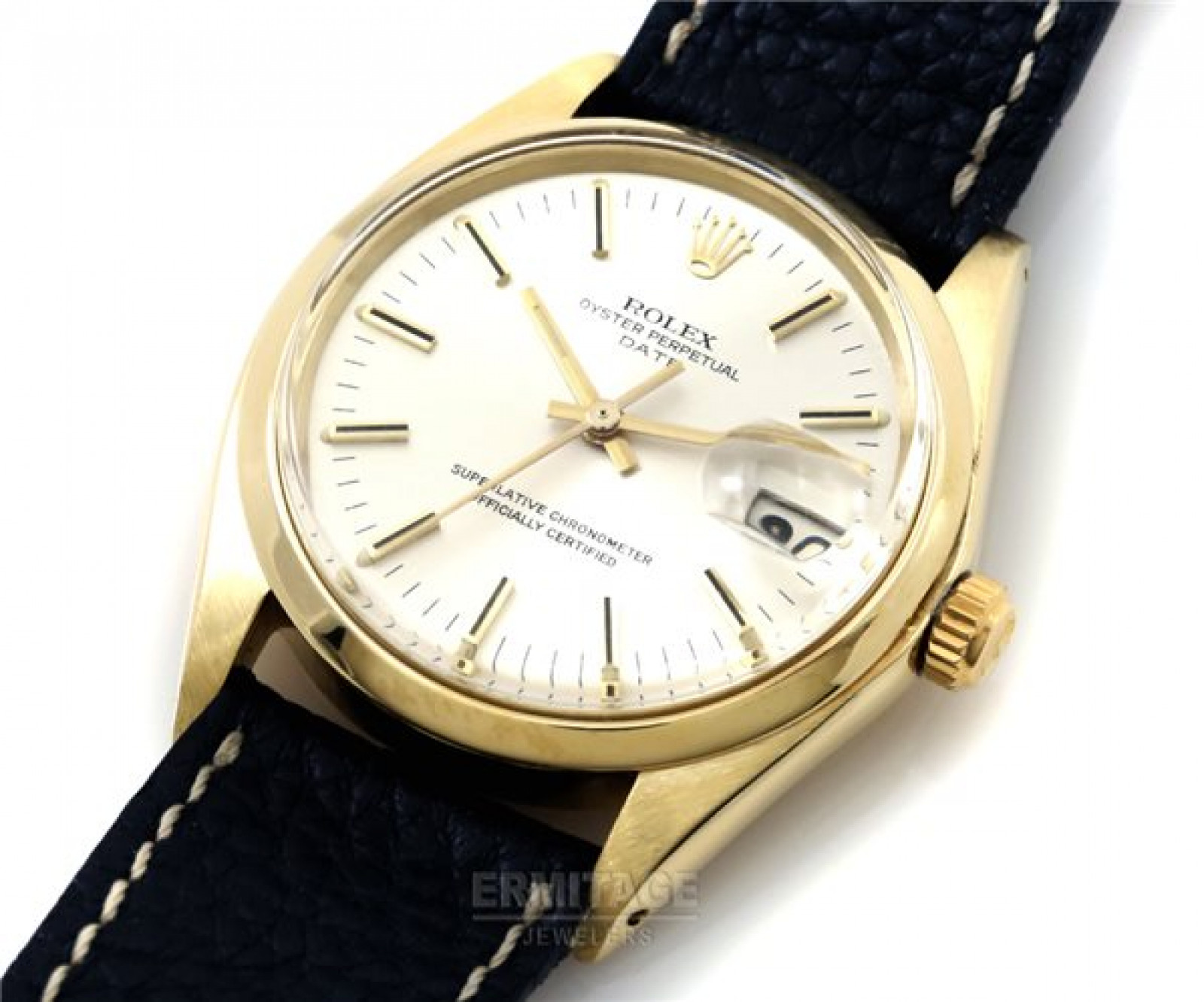 Vintage Gold Rolex Date 1503 Year 1972 with Grey Dial
