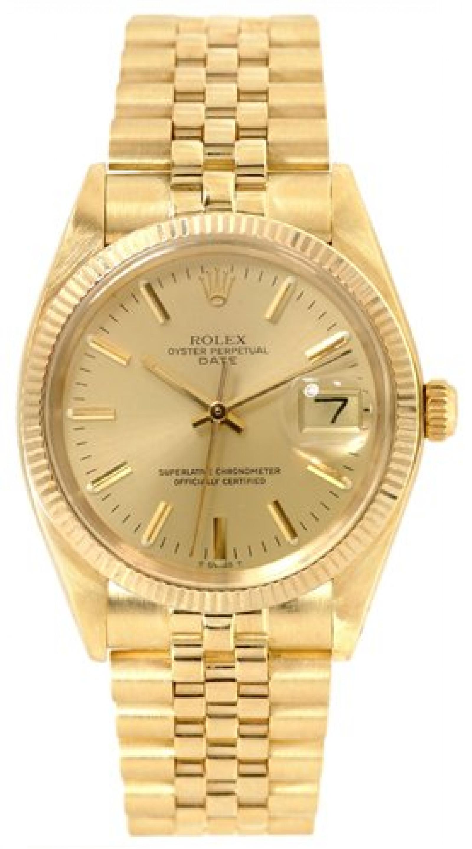 Vintage Rolex Date 1503 Gold Year 1980
