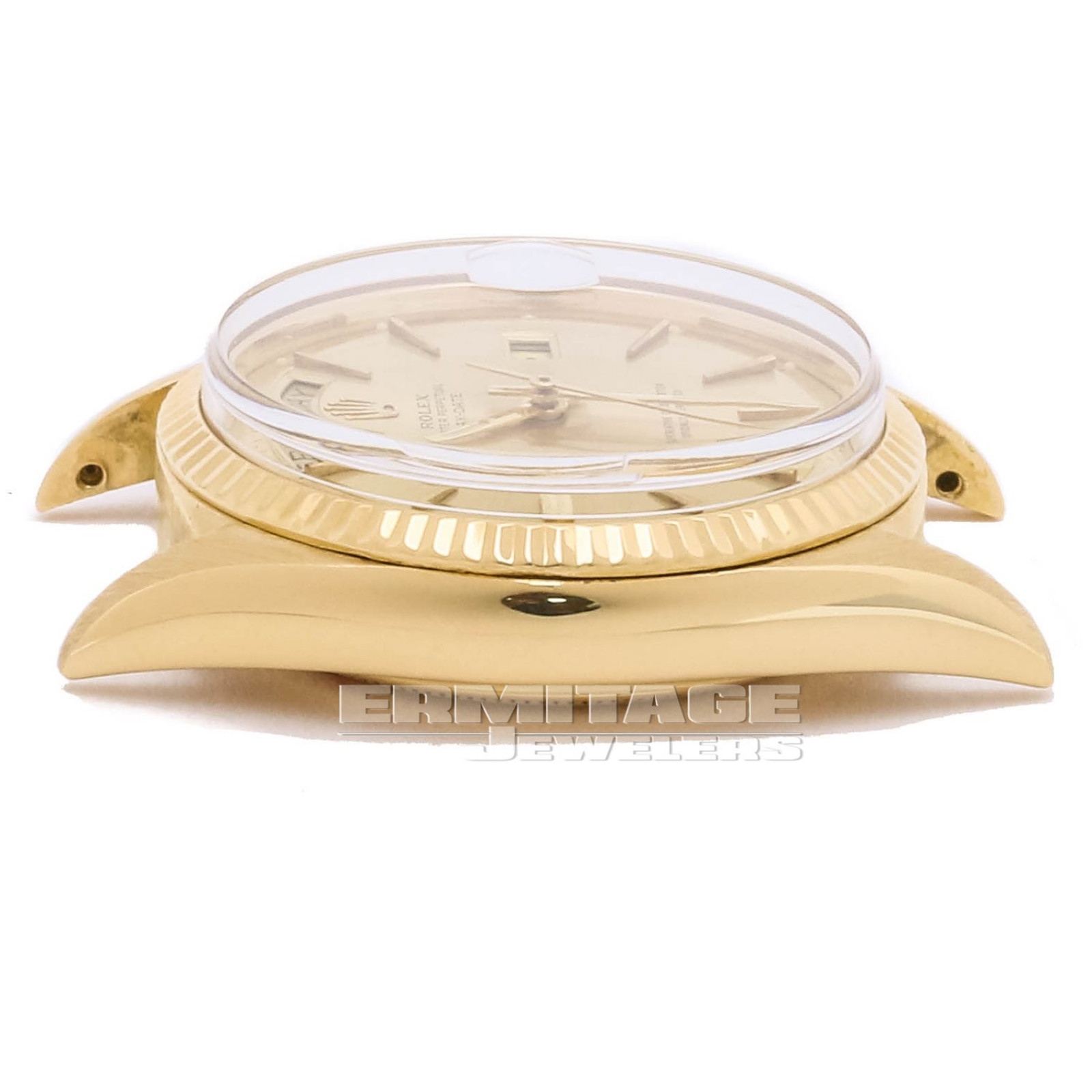 Vintage Rolex 1803 36 mm Yellow Gold on President, Fluted Bezel