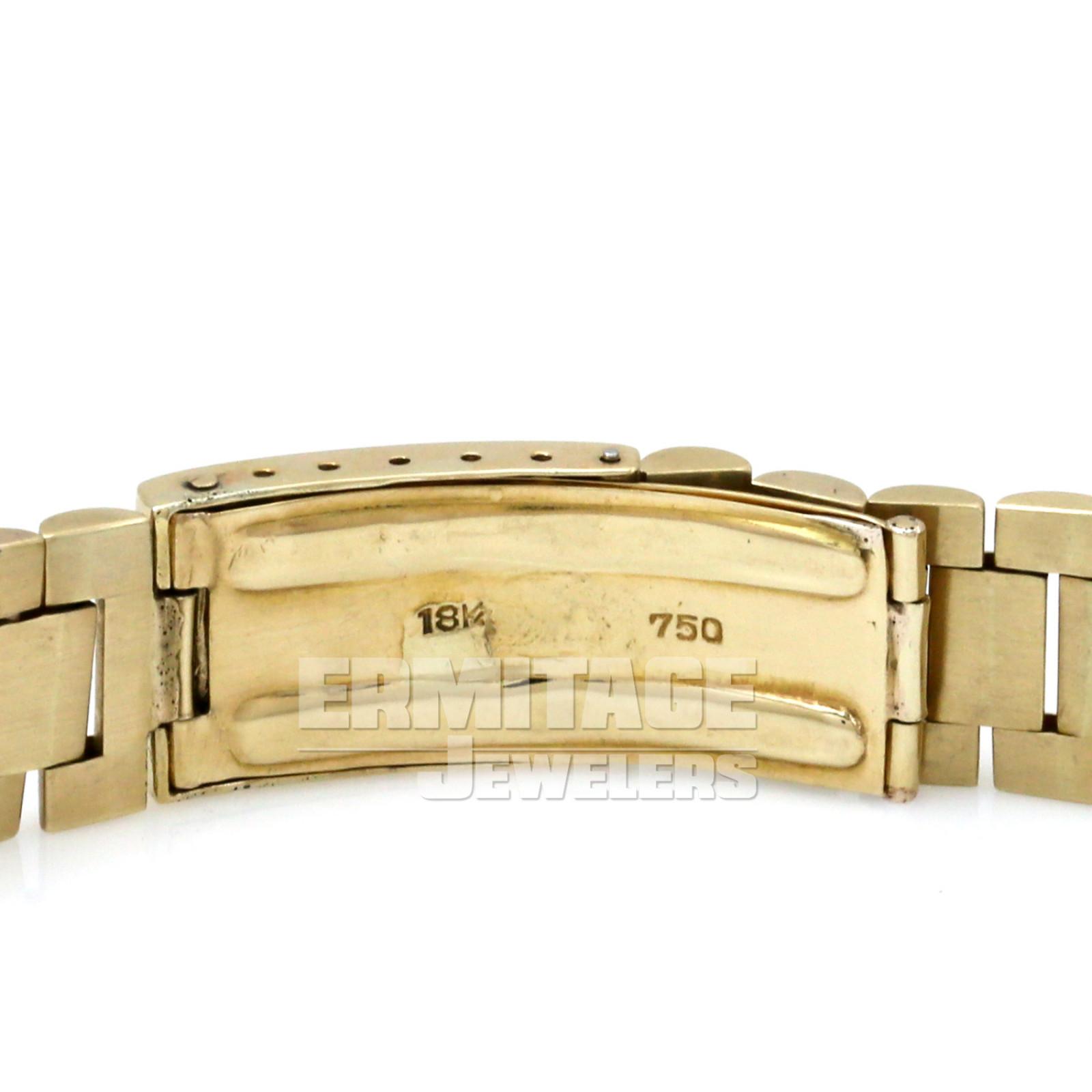 Vintage Rolex 1807 36 mm Yellow Gold on President, Bark Finish Bezel