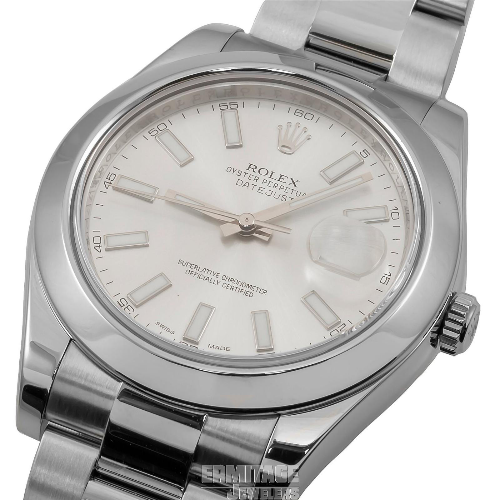 2014 Silver Rolex Datejust Ref. 116300