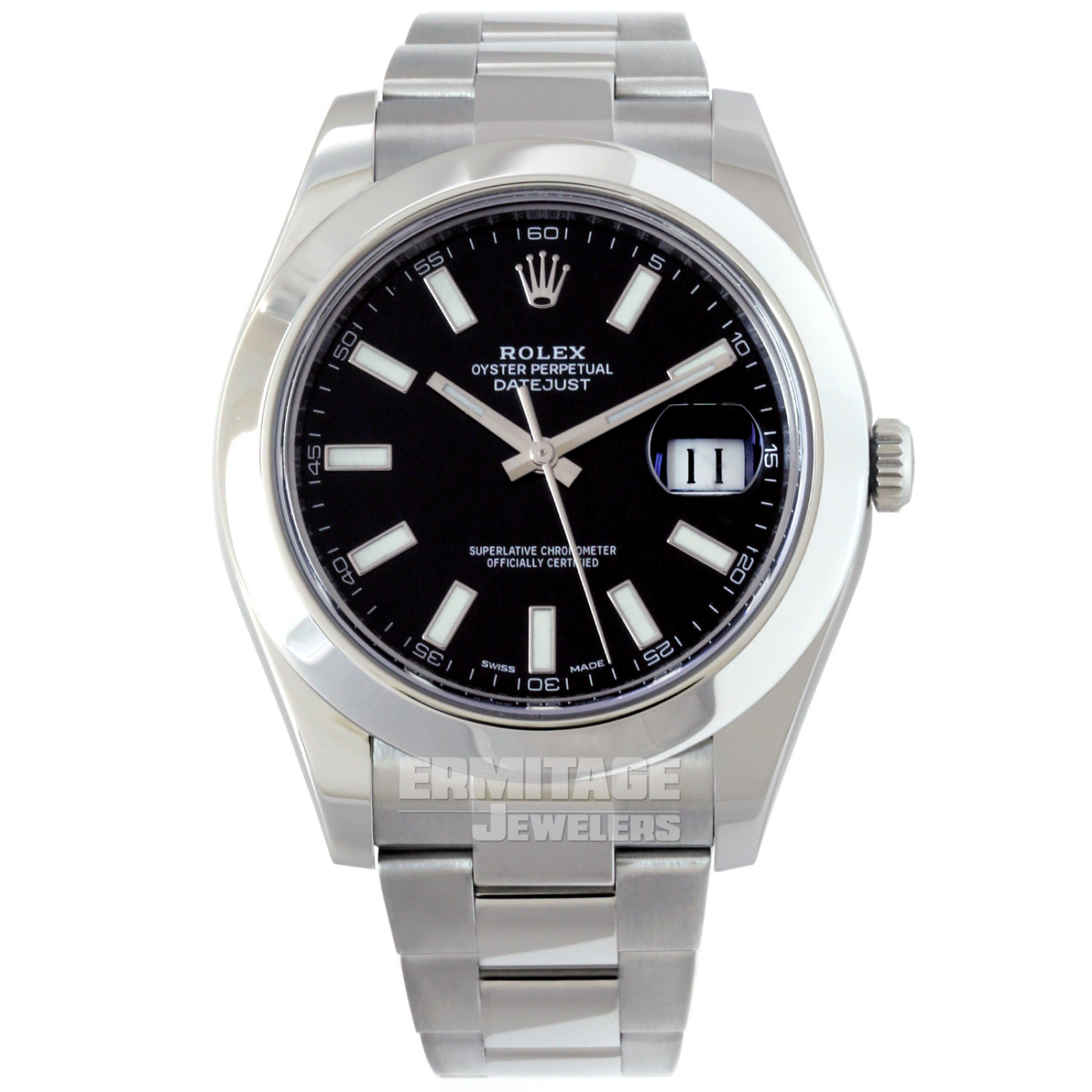 2016 Rolex Datejust 116300 with Black Dial