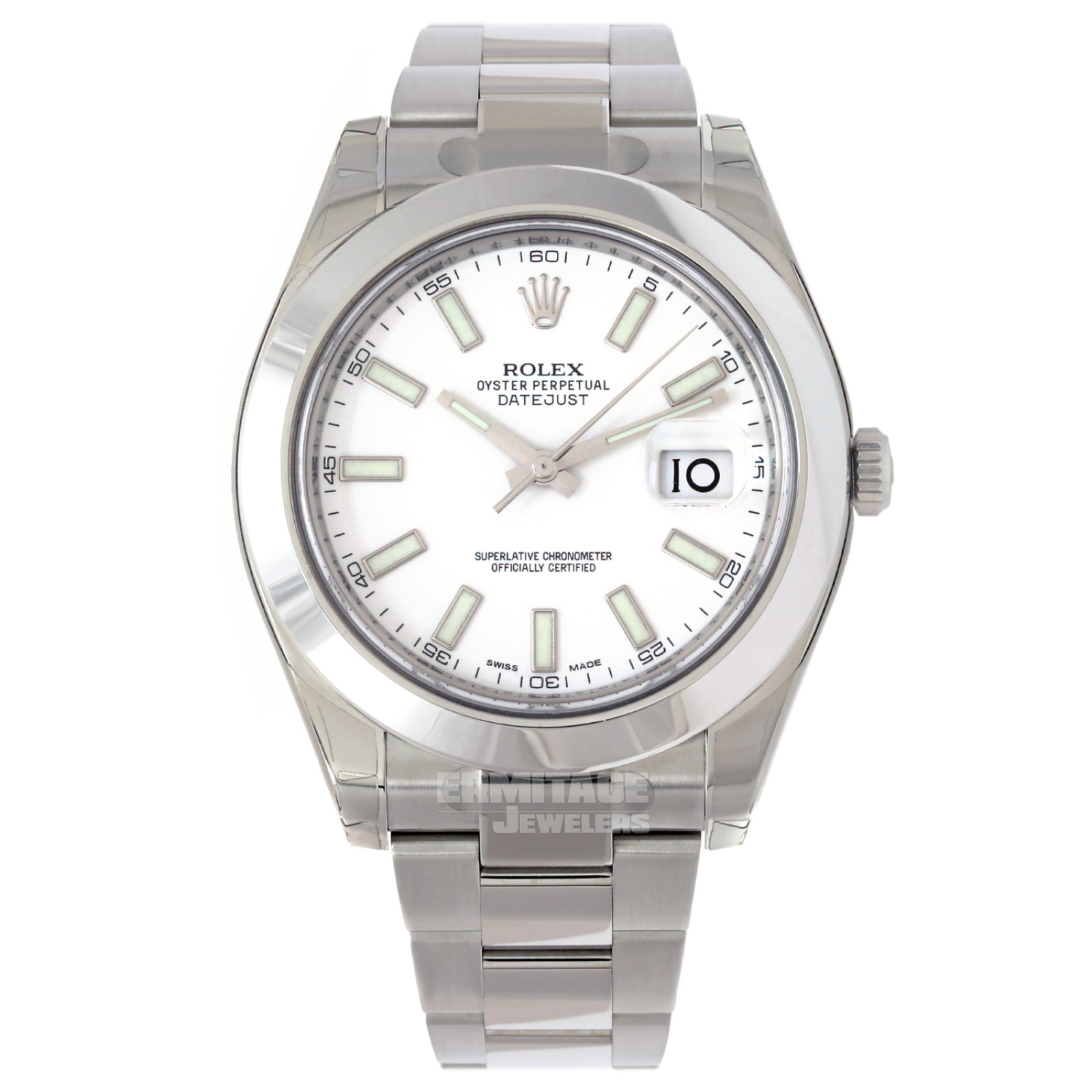 Rolex Datejust 116300 with White Dial