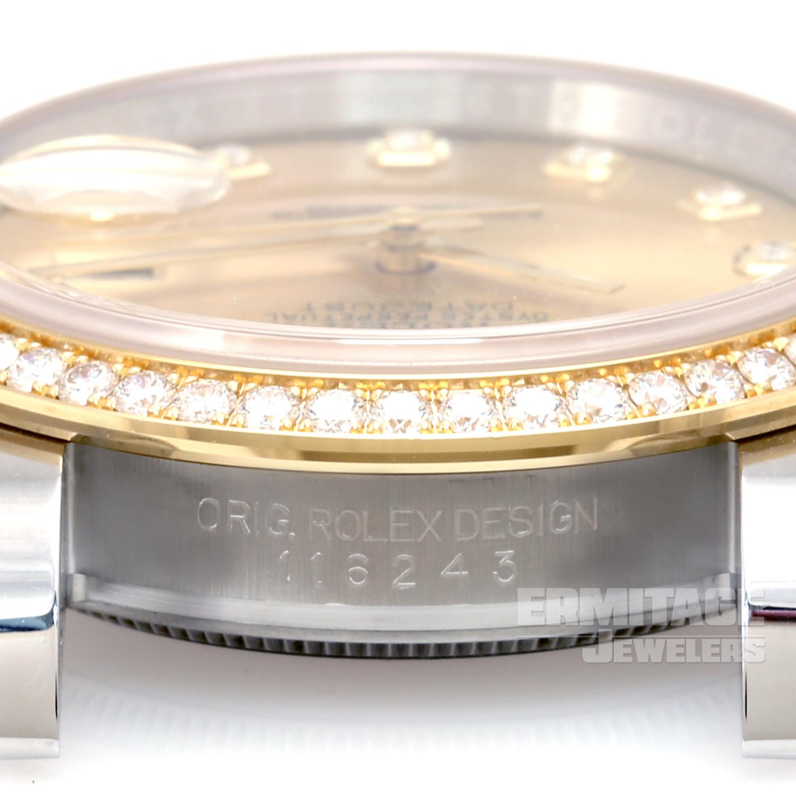Gold on Jubilee Rolex Datejust 116243 36 mm