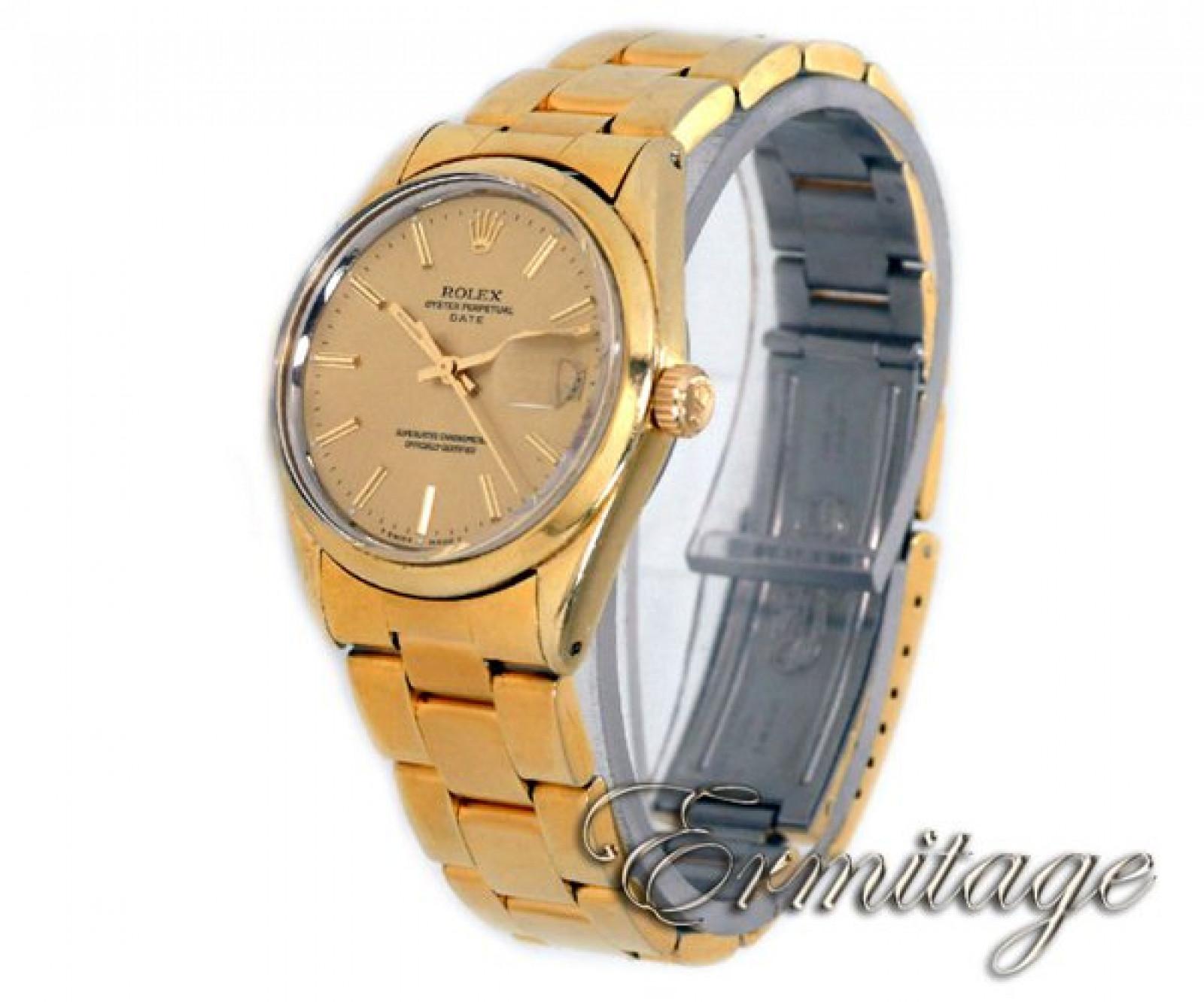 Vintage Rare Rolex Date 1550 Gold Year 1971