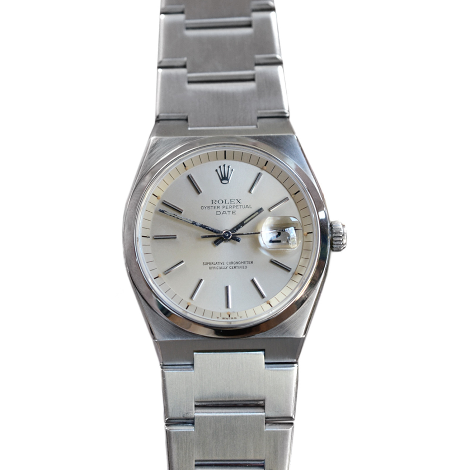 Pre-Owned Rolex Date 1530 with Silver Dial