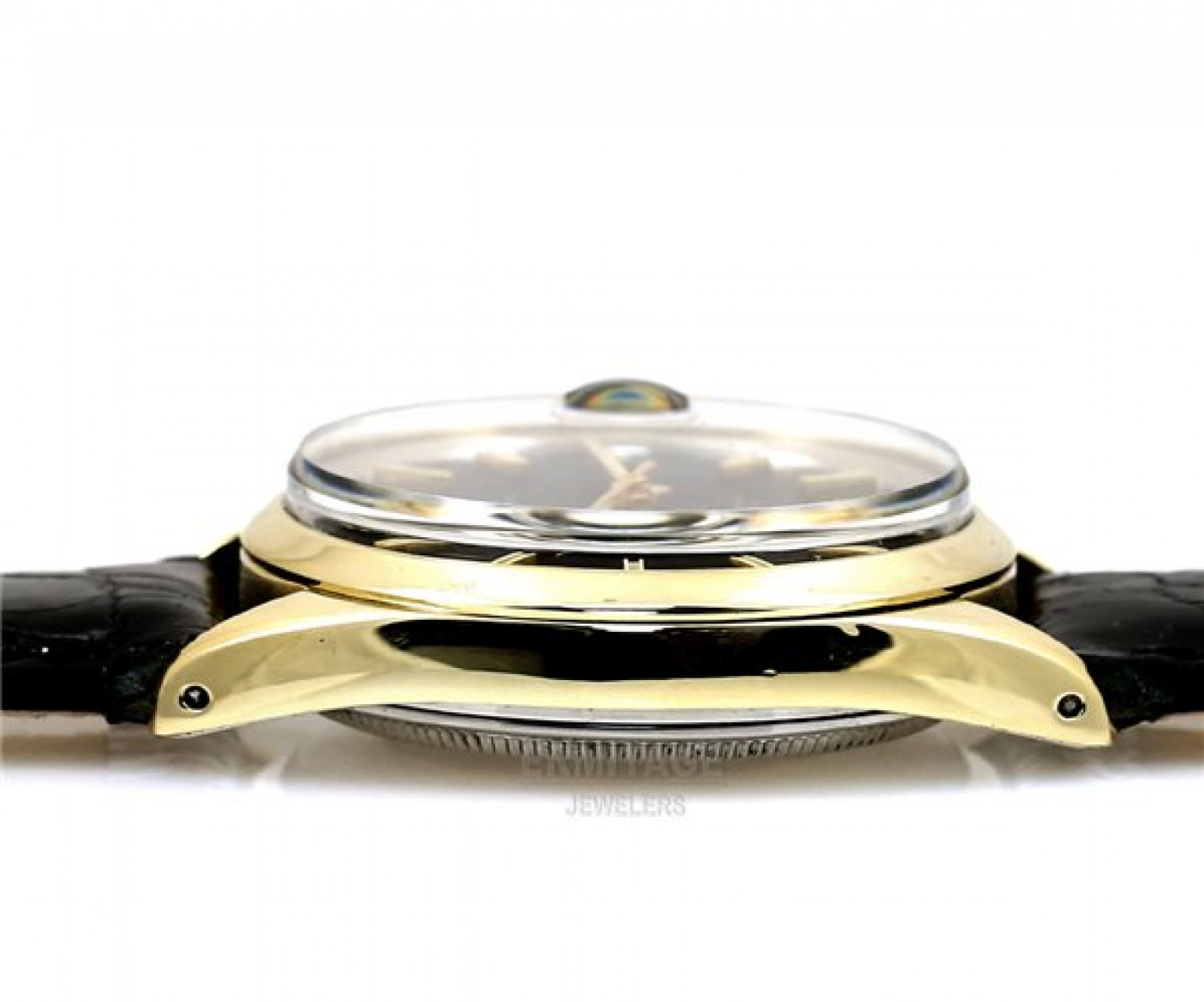 Vintage Rolex Date 1550 Gold with Black Dial