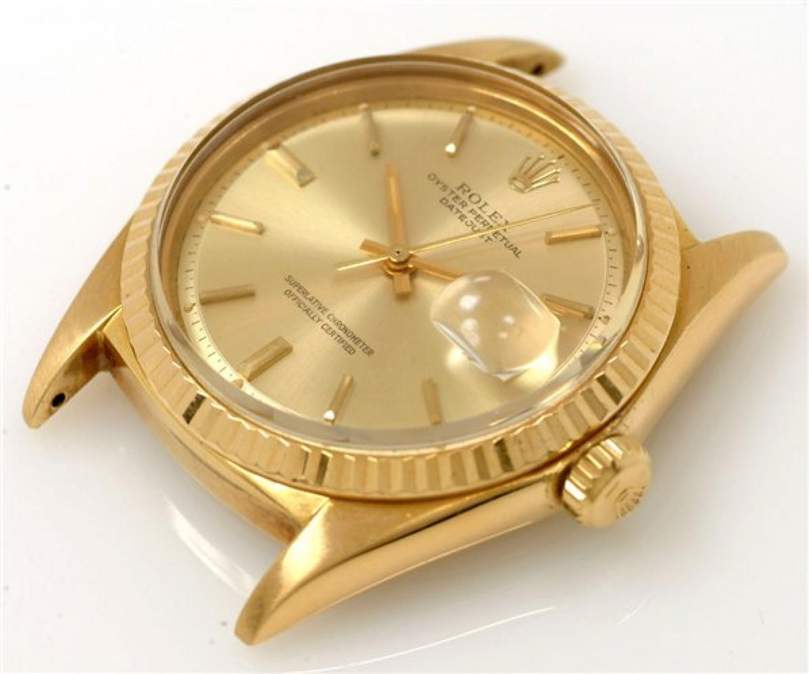 Vintage Rare Rolex Datejust 1601 Gold Year 1966