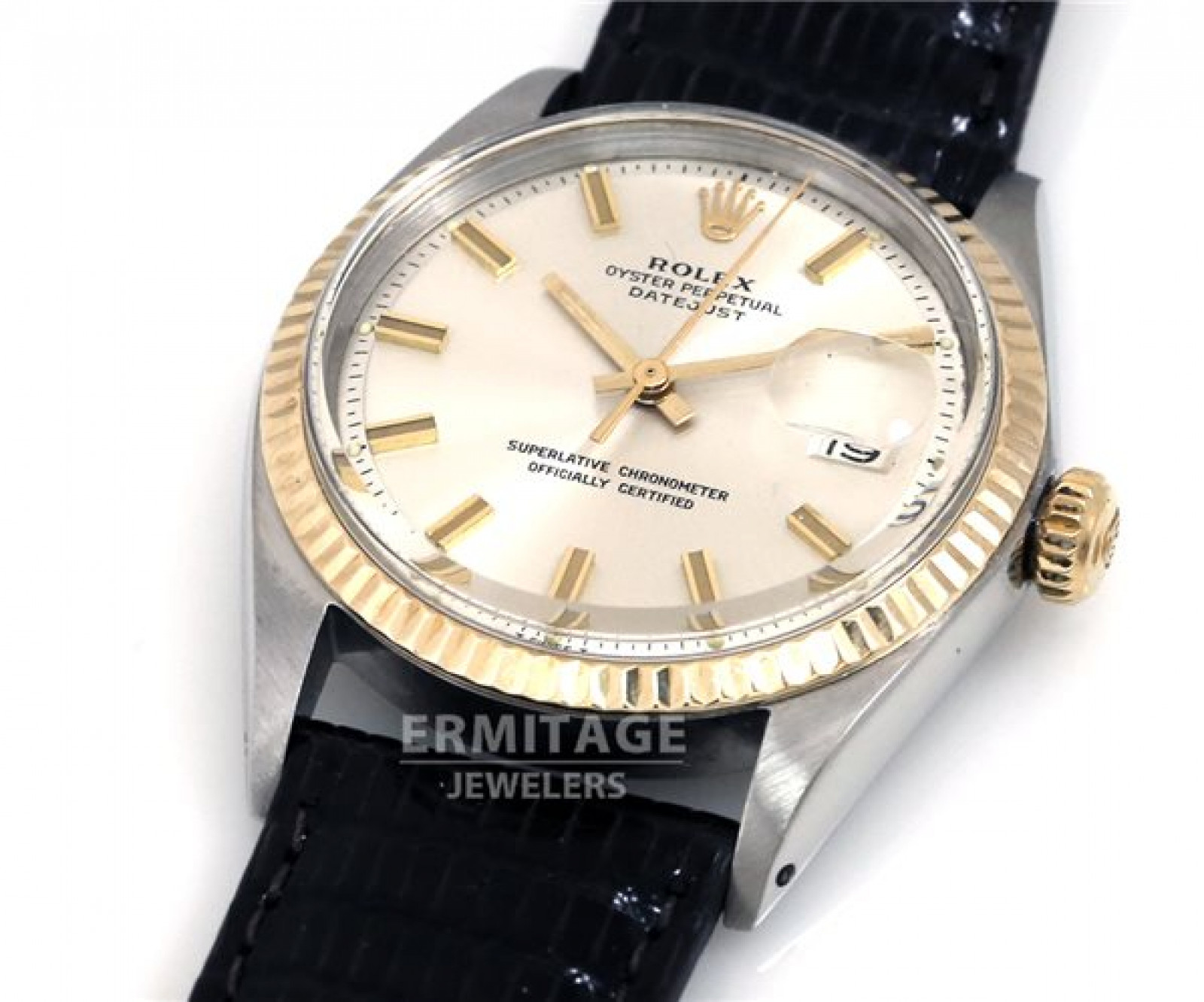 Vintage Rare Rolex Datejust 1601 Steel with Leather Strap