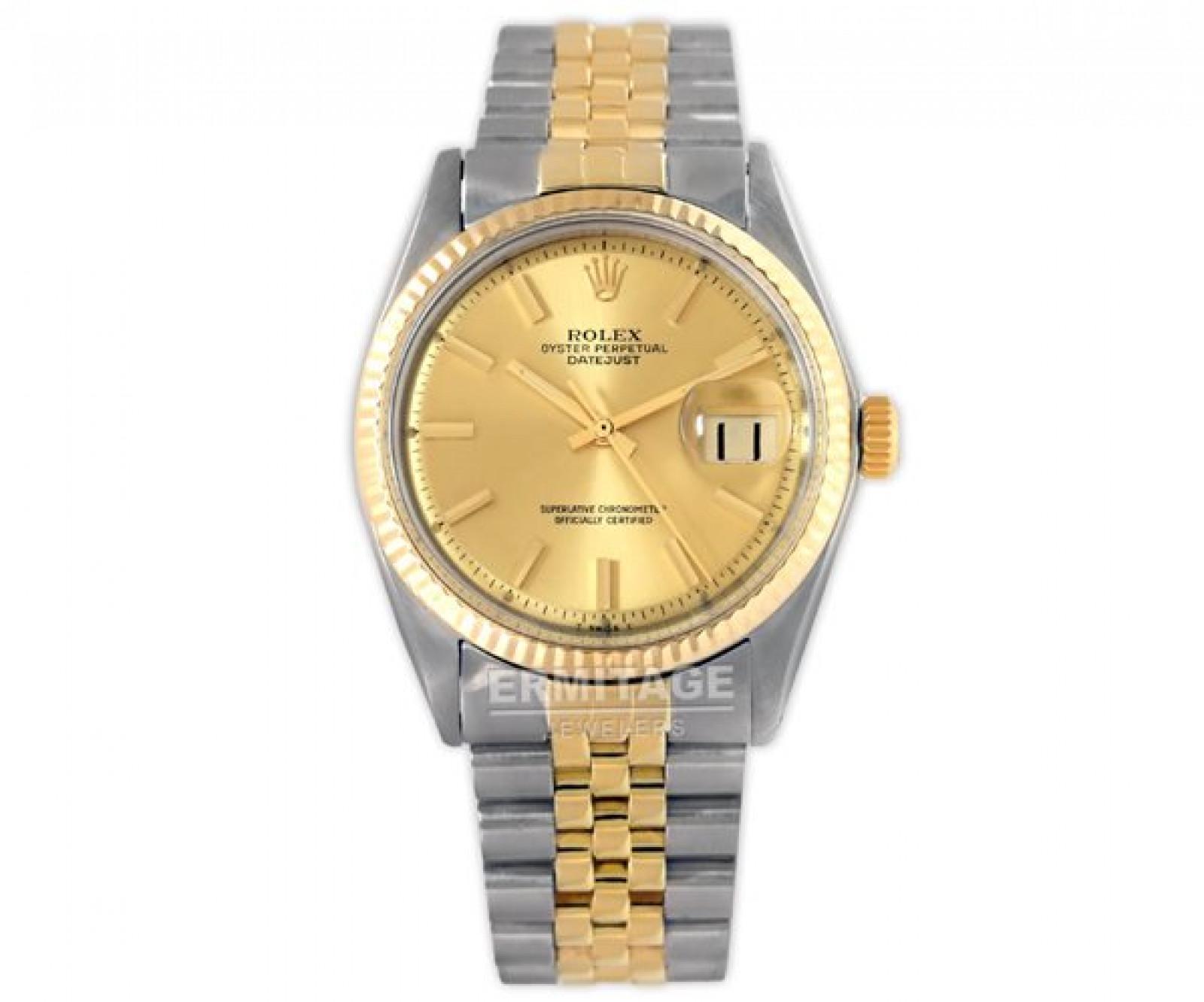 Vintage Rare Rolex Datejust 1601 Gold & Steel Year 1975