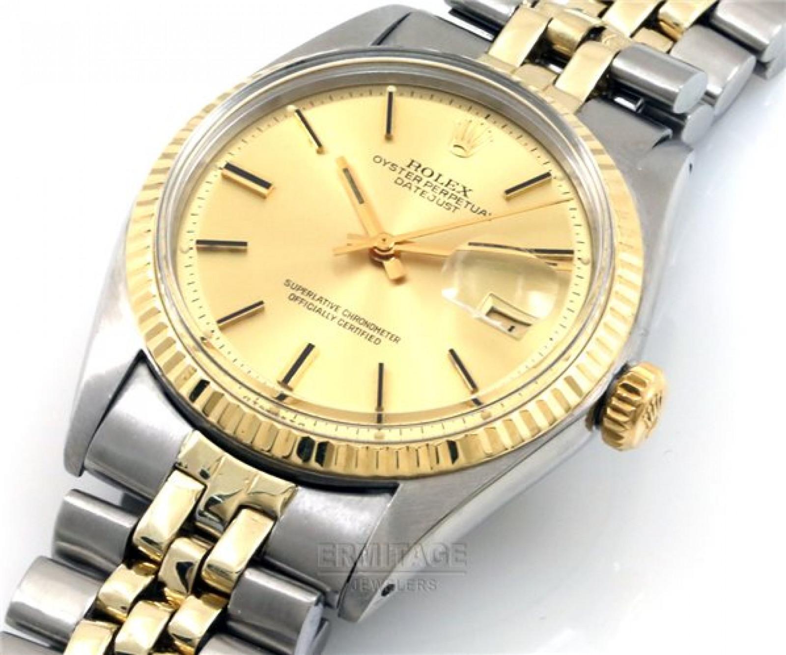 Vintage Rare Rolex Datejust 1601 Gold Year 1971