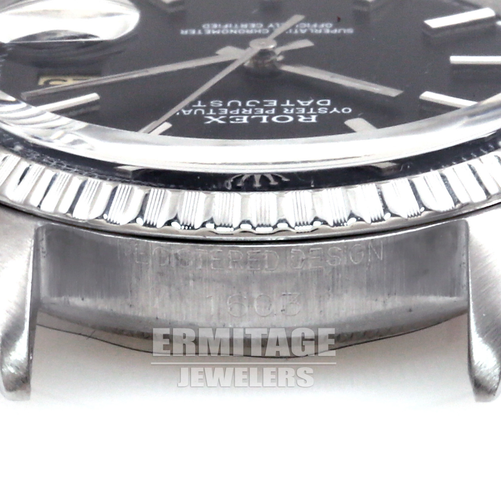 Rolex Datejust 1603 with Black Dial