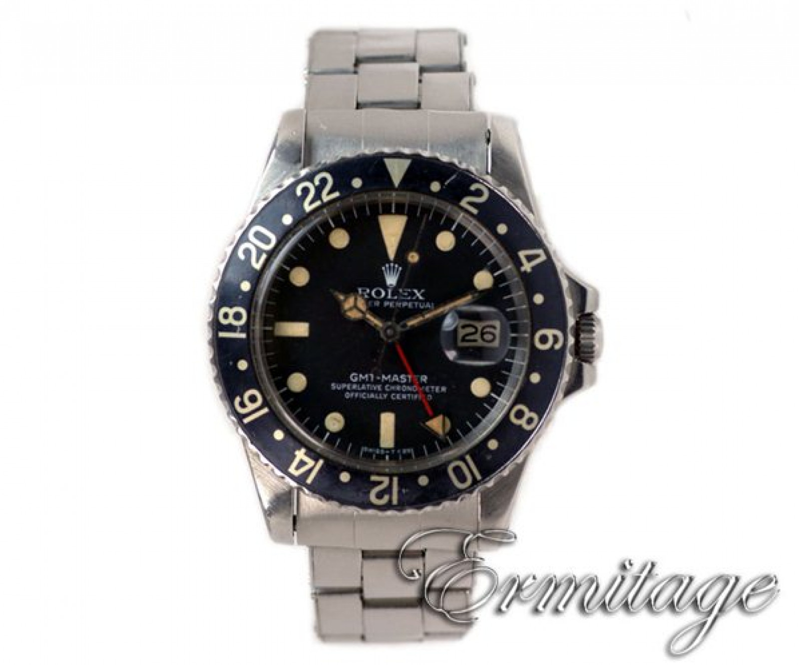 Vintage Rolex GMT-Master 1675 Steel Year 1977 with Black Dial 1977