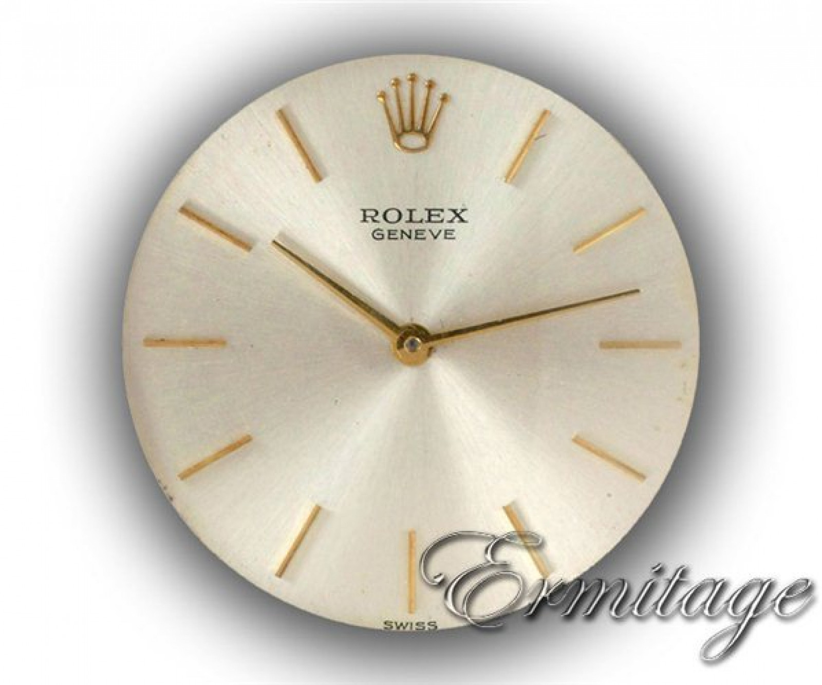 Vintage Rolex Geneva 3604 Gold with Silver Dial