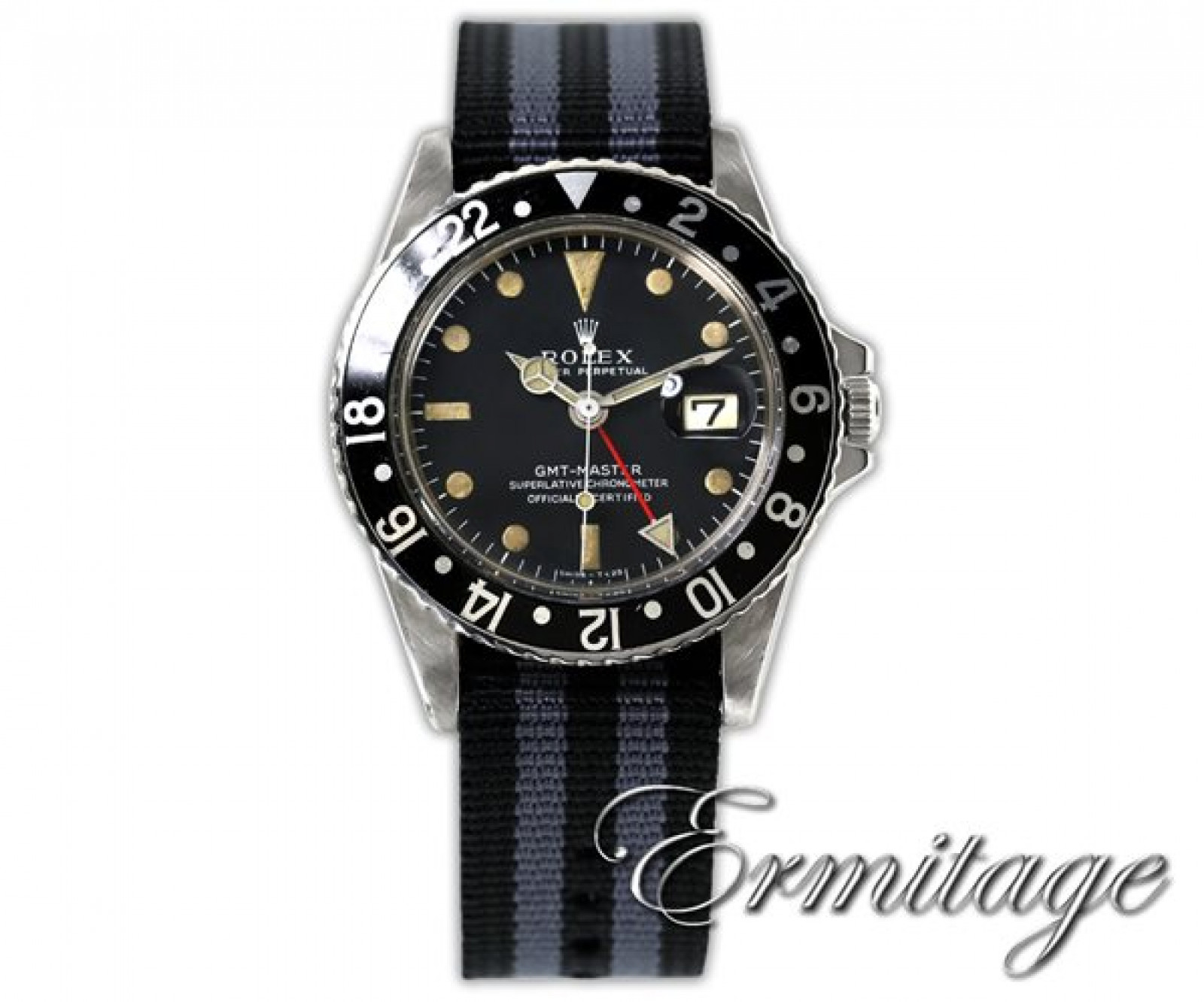 Vintage Rolex GMT-Master 1675 Steel Year 1965 with Black Dial 1965