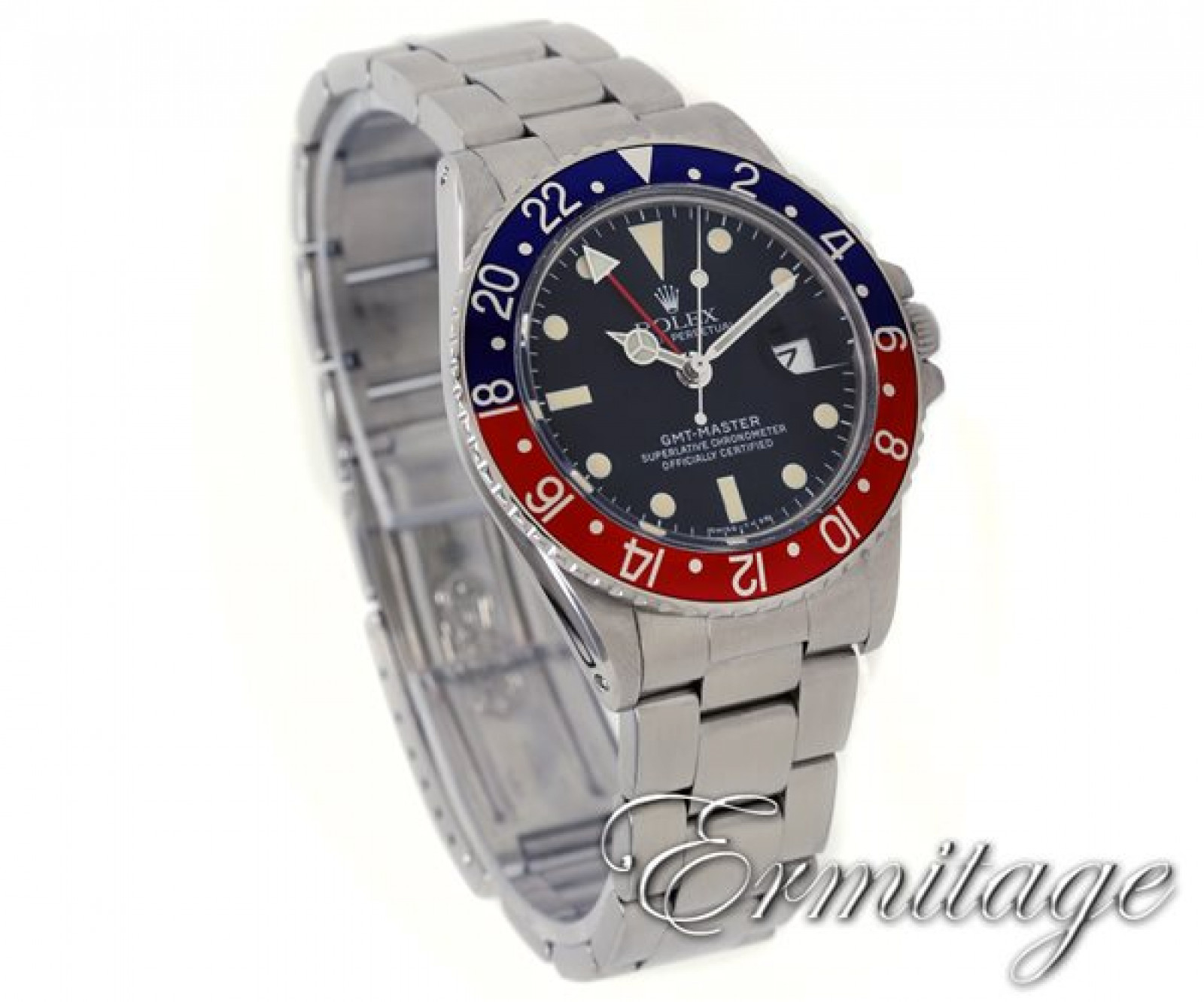 Vintage Rolex GMT-Master 1675 Steel Year 1976 with Black Dial 1976