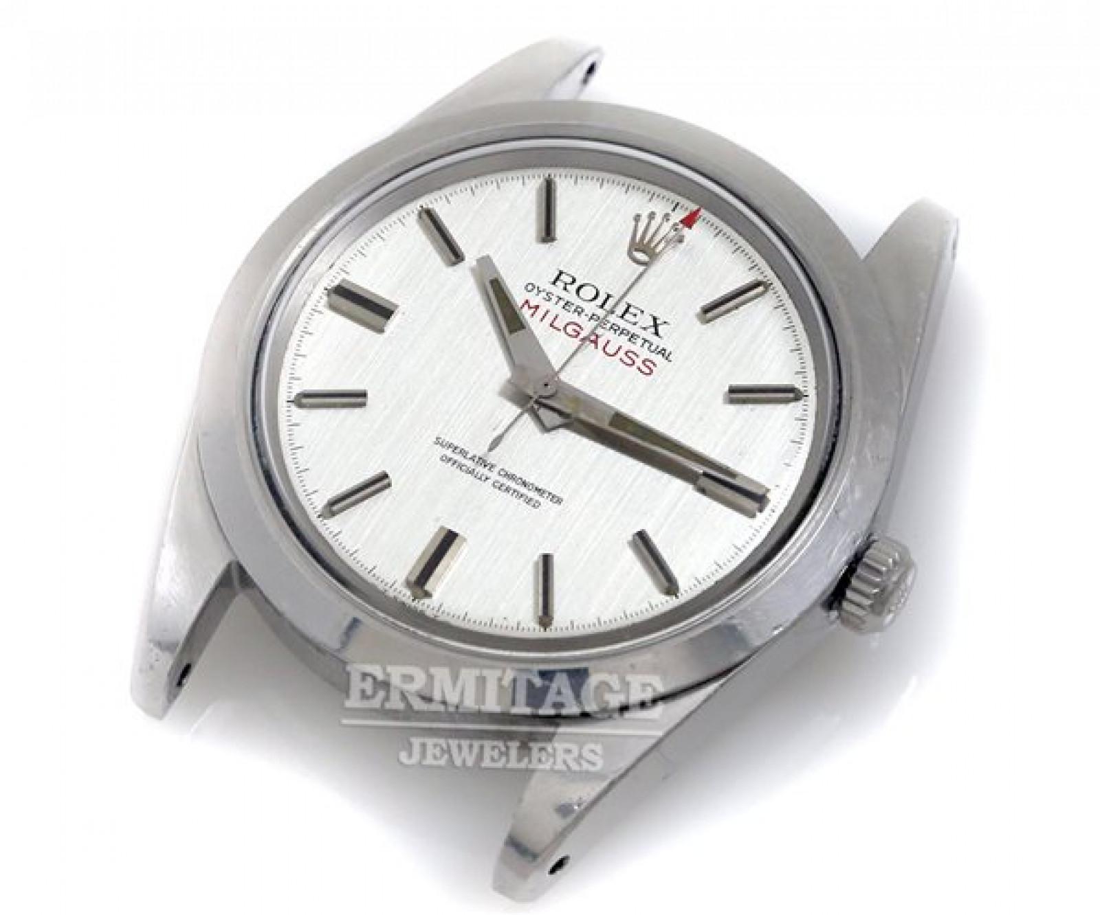 Vintage Rolex Milgauss 1019 Steel with Grey Dial