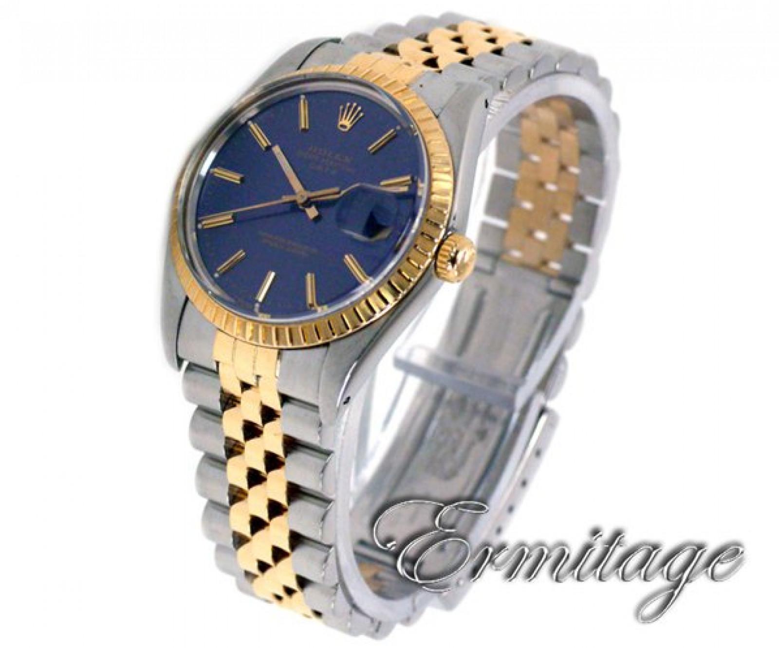 Rolex Date 15053 Gold & Steel Blue 1988