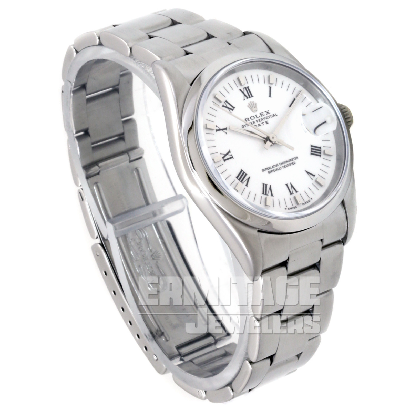 Pre-Owned Rolex Date 15200 with White Dial