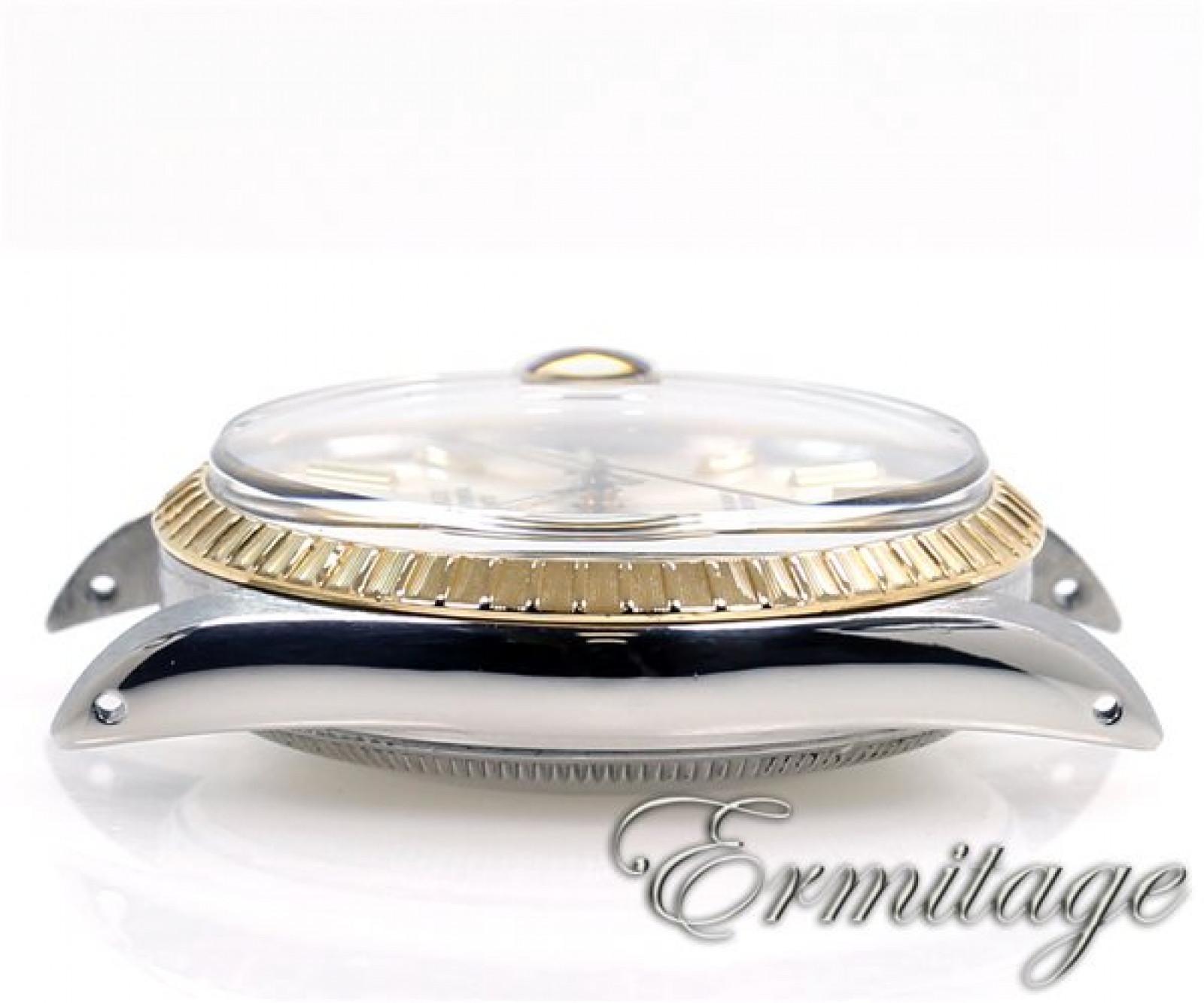 Rolex Date 15053 Gold & Steel Silver Dial 1987