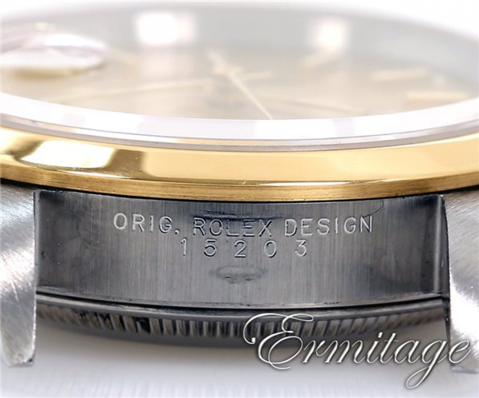 Rolex Oyster Perpetual Date 15203 Gold & Steel