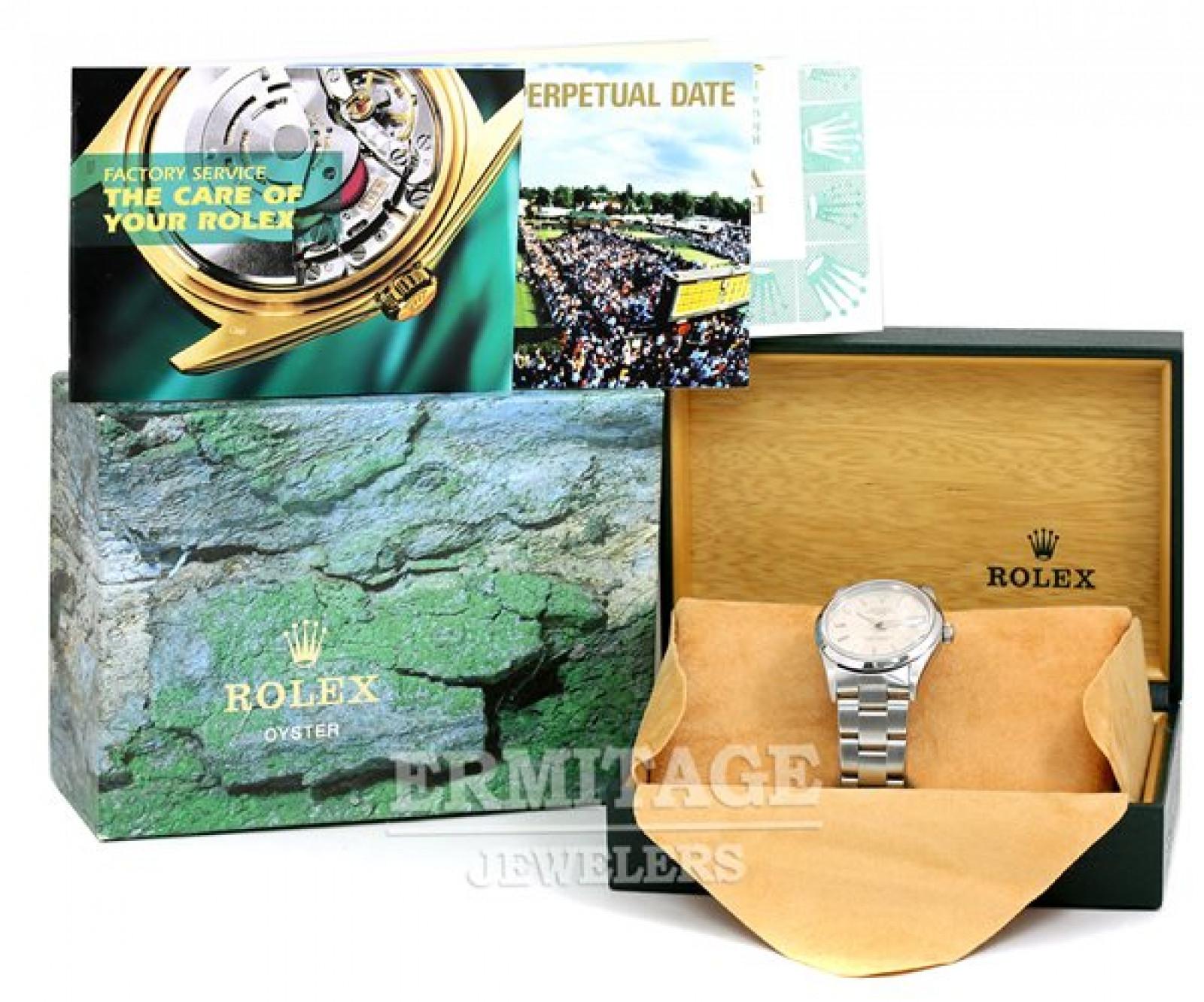 Rolex Date 15200 Steel Silver Dial 1998