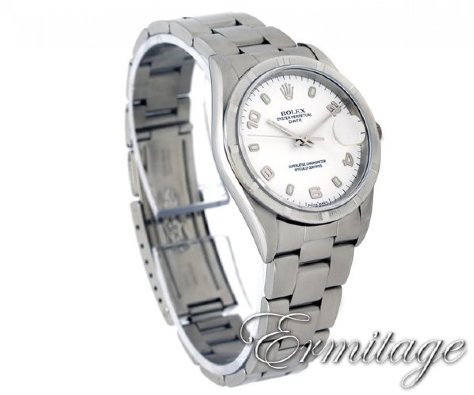 Rolex Date 15210 Steel White Year 2000